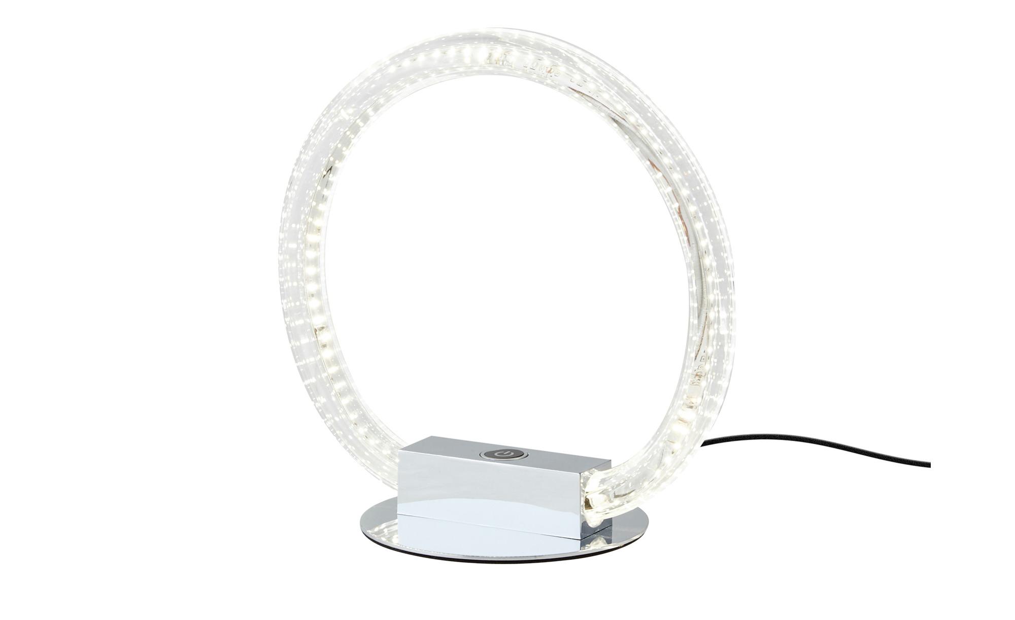 KHG LED-Tischleuchte, Acrylring ¦ silber ¦ Maße (cm): B: 27 H: 27 T: 1 Ø: 26 Lampen & Leuchten > Innenleuchten > Tischlampen - Höffner