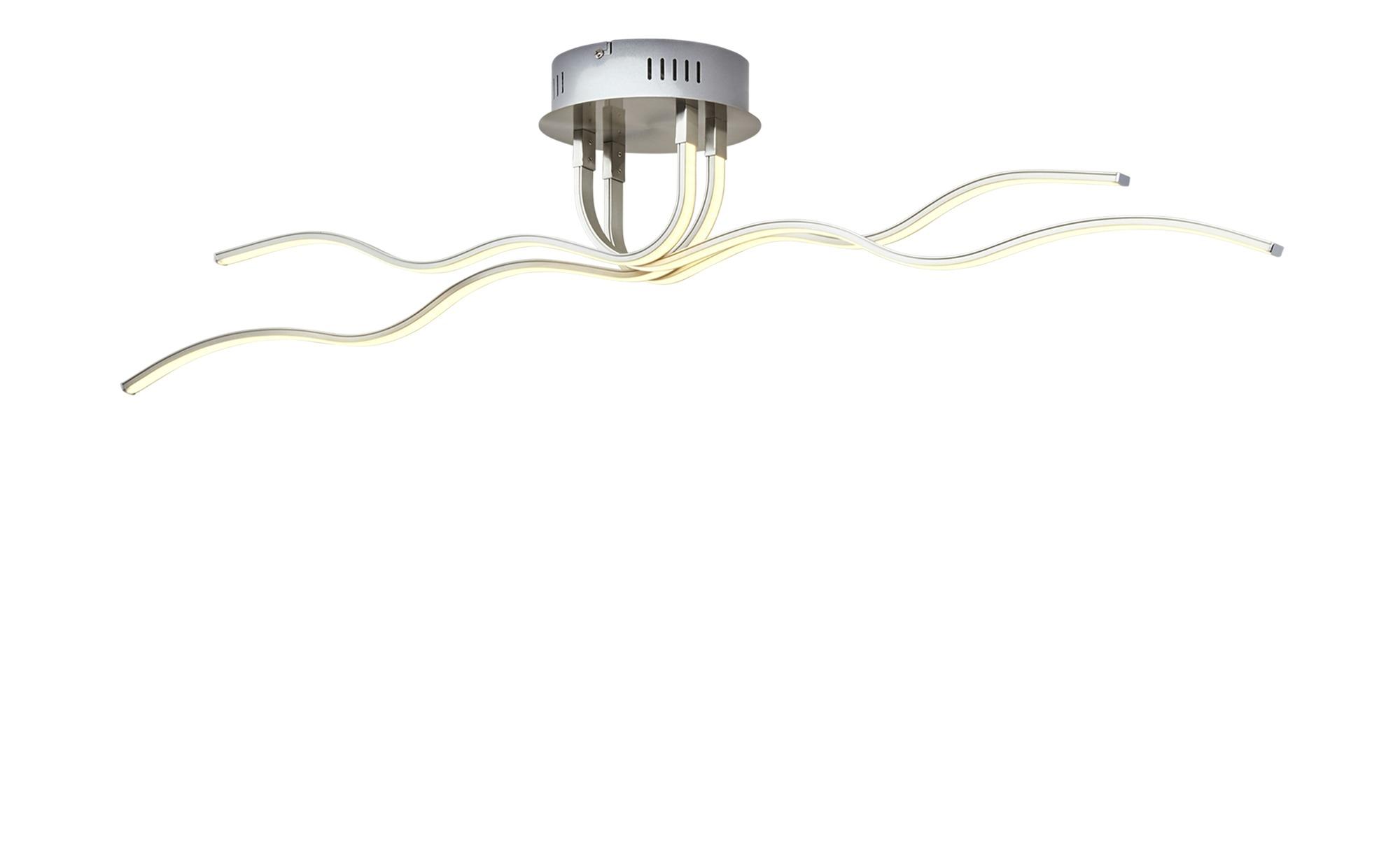 Paul Neuhaus LED-Deckenleuchte, 4-flammig, nickel matt ¦ silber ¦ Maße (cm): B: 113 H: 20 Lampen & Leuchten > Innenleuchten > Deckenleuchten - Höffner