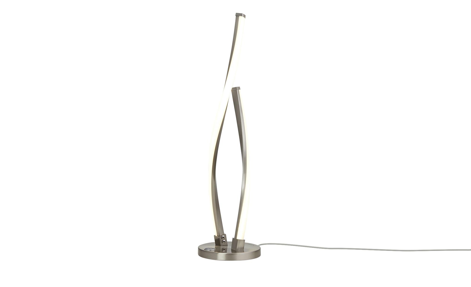 Paul Neuhaus LED-Tischleuchte, 2-flammig, geschwungen ¦ silber ¦ Maße (cm): H: 48,5 Lampen & Leuchten > Innenleuchten > Tischlampen - Höffner