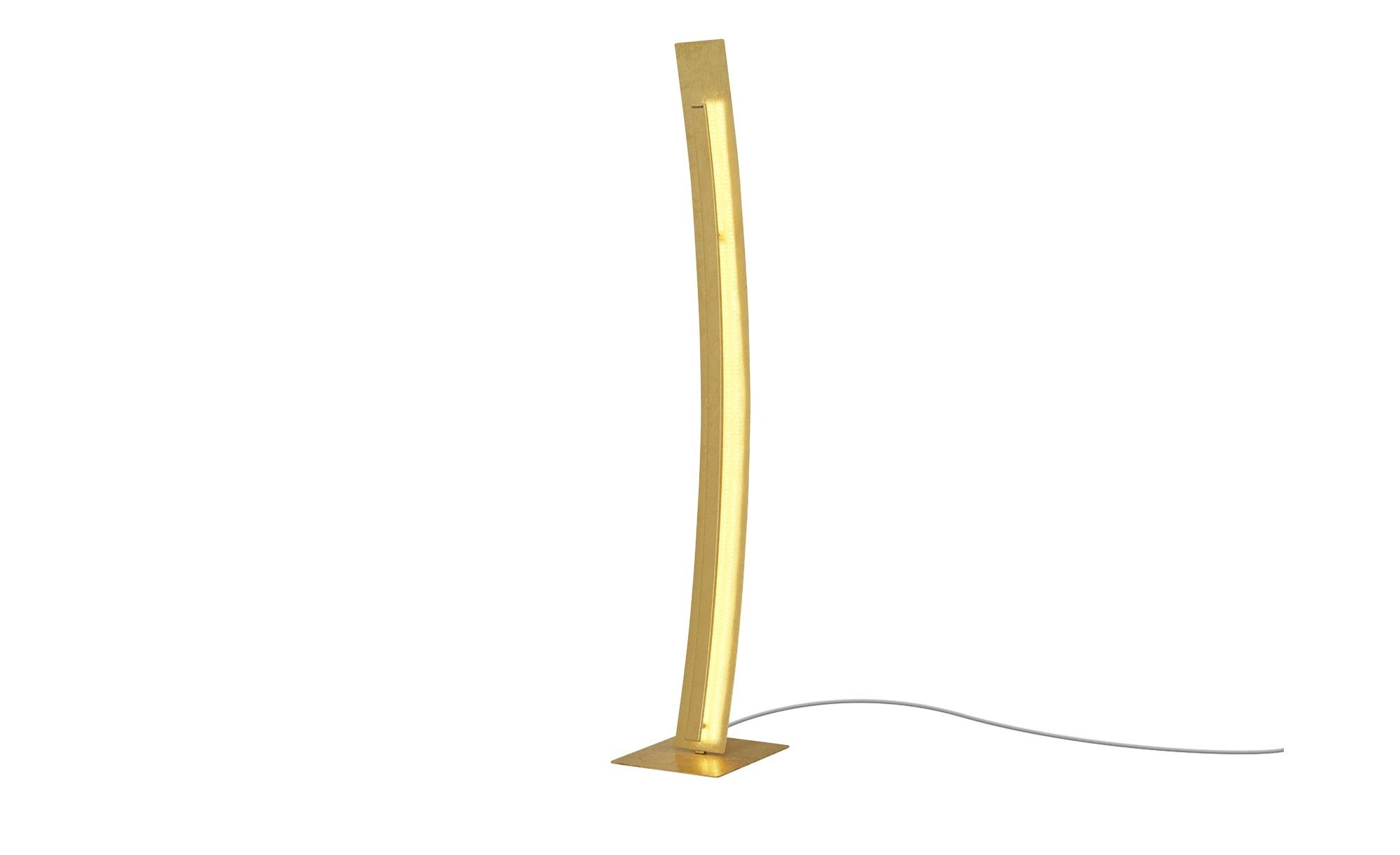 Paul Neuhaus LED-Stehleuchte, blattgoldfarben ¦ gold ¦ Maße (cm): B: 26 H: 140 Lampen & Leuchten > Innenleuchten > Stehlampen - Höffner