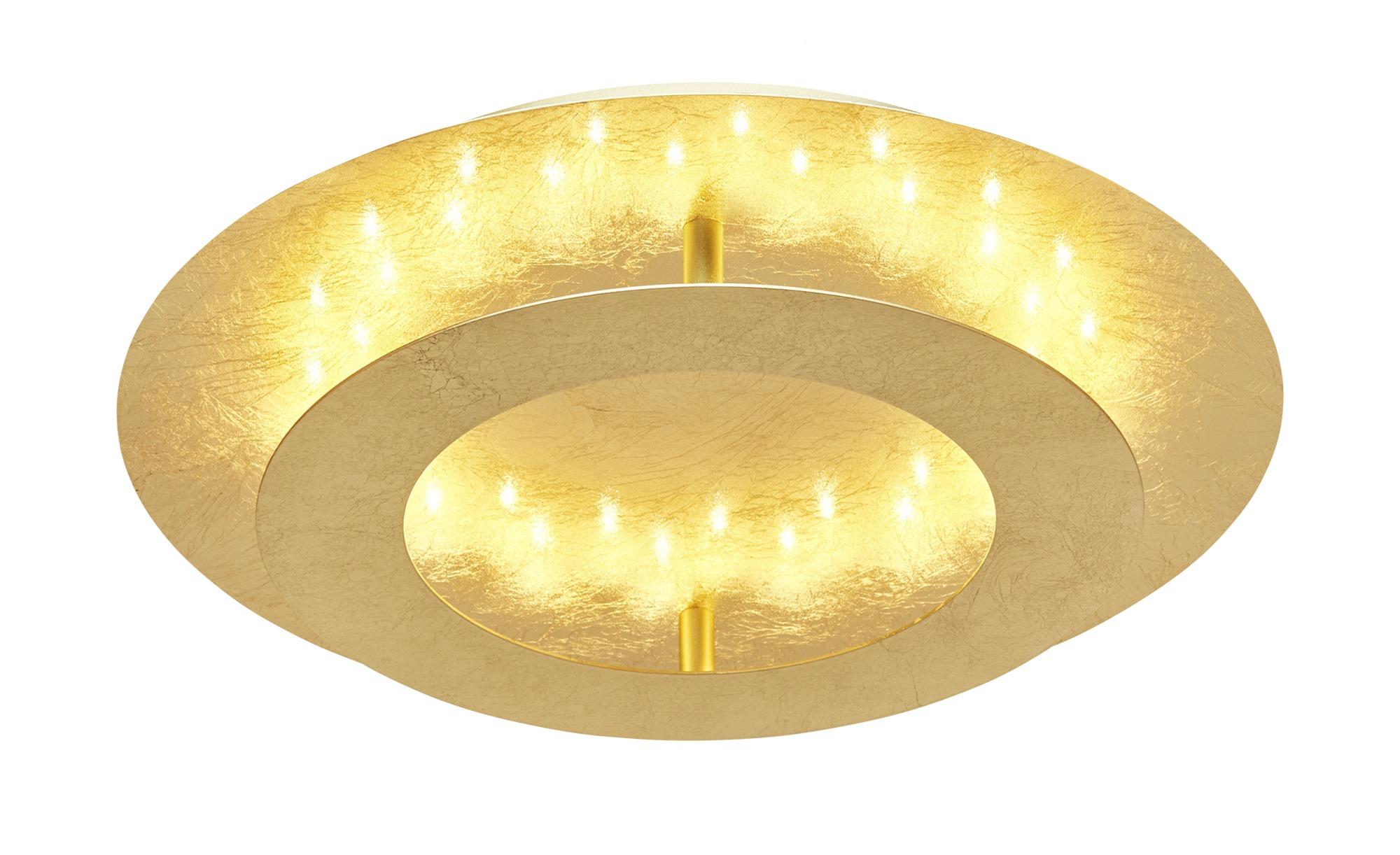 Paul Neuhaus LED-Deckenleuchte, blattgoldfarben ¦ gold ¦ Maße (cm): H: 8 Ø: 40 Lampen & Leuchten > Innenleuchten > Deckenleuchten - Höffner