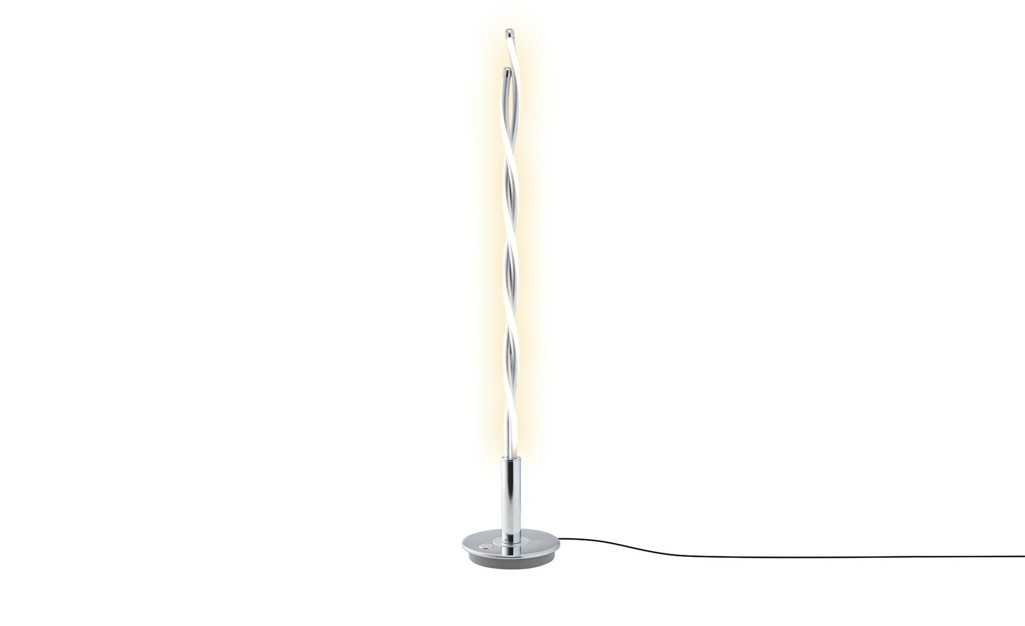 Trio LED-Tischleuchte, Chrom / Alu ¦ silber ¦ Maße (cm): H: 80 Lampen & Leuchten > Innenleuchten > Tischlampen - Höffner