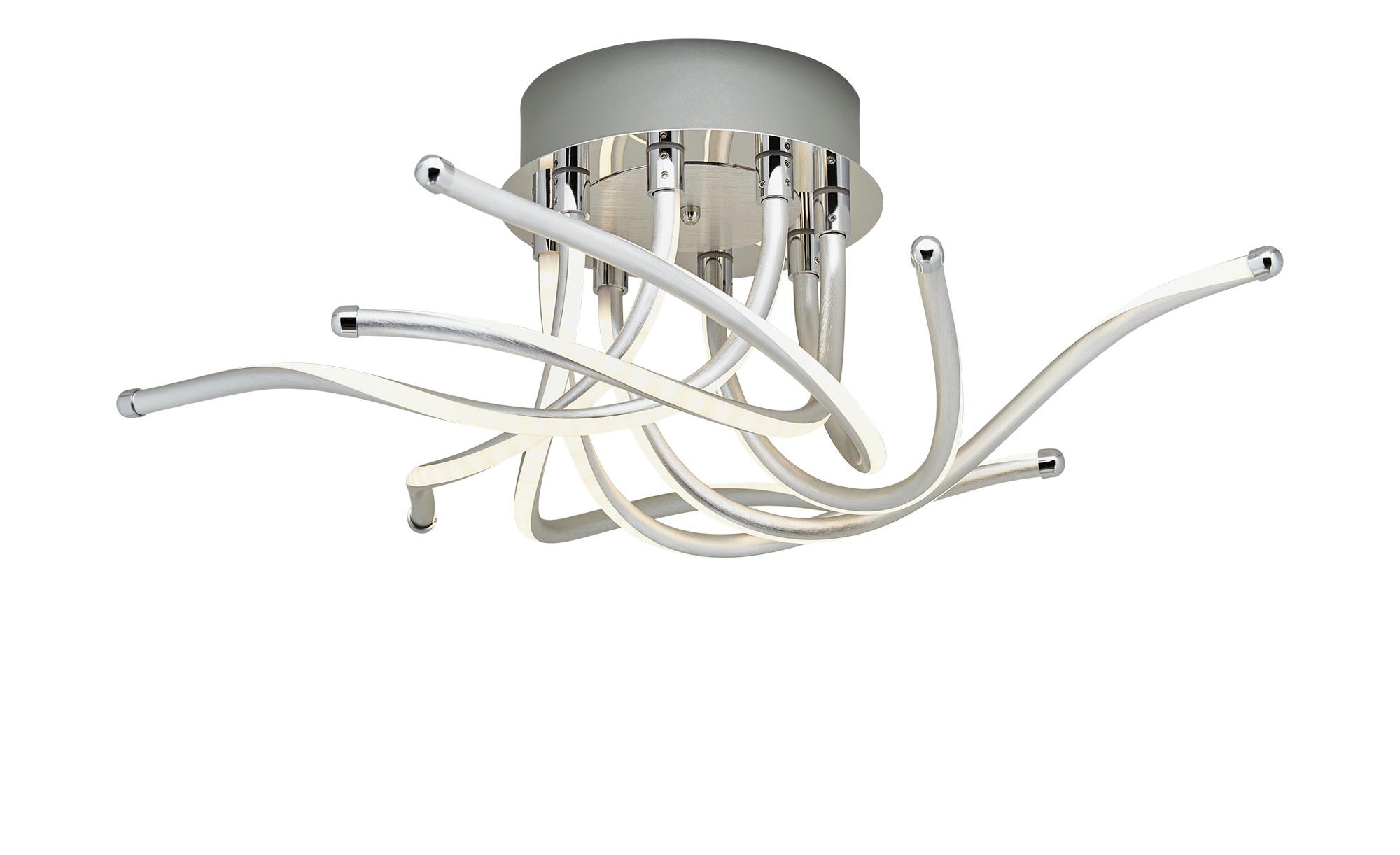 Trio LED-Deckenleuchte, chromfarben /Alu ¦ silber ¦ Maße (cm): H: 23 Ø: [85.0] Lampen & Leuchten > Innenleuchten > Deckenleuchten - Höffner