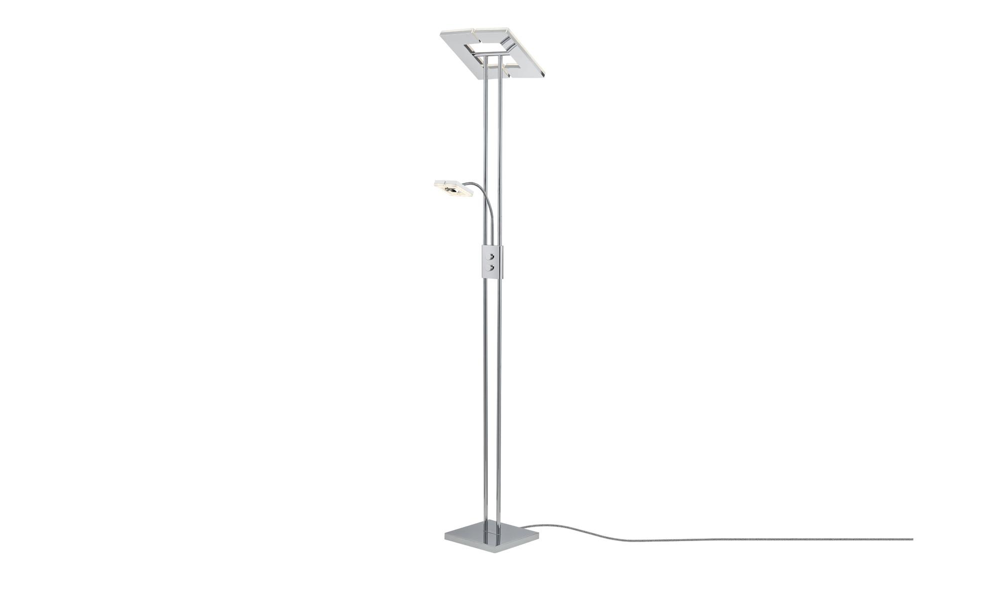 Paul Sommerkamp Leuchten LED-Deckenfluter, 2-flammig Chrom ¦ Maße (cm): B: 28,5 H: 181 Lampen & Leuchten > Innenleuchten > Stehlampen - Höffner | Lampen > Stehlampen > Deckenfluter | Möbel Höffner DE