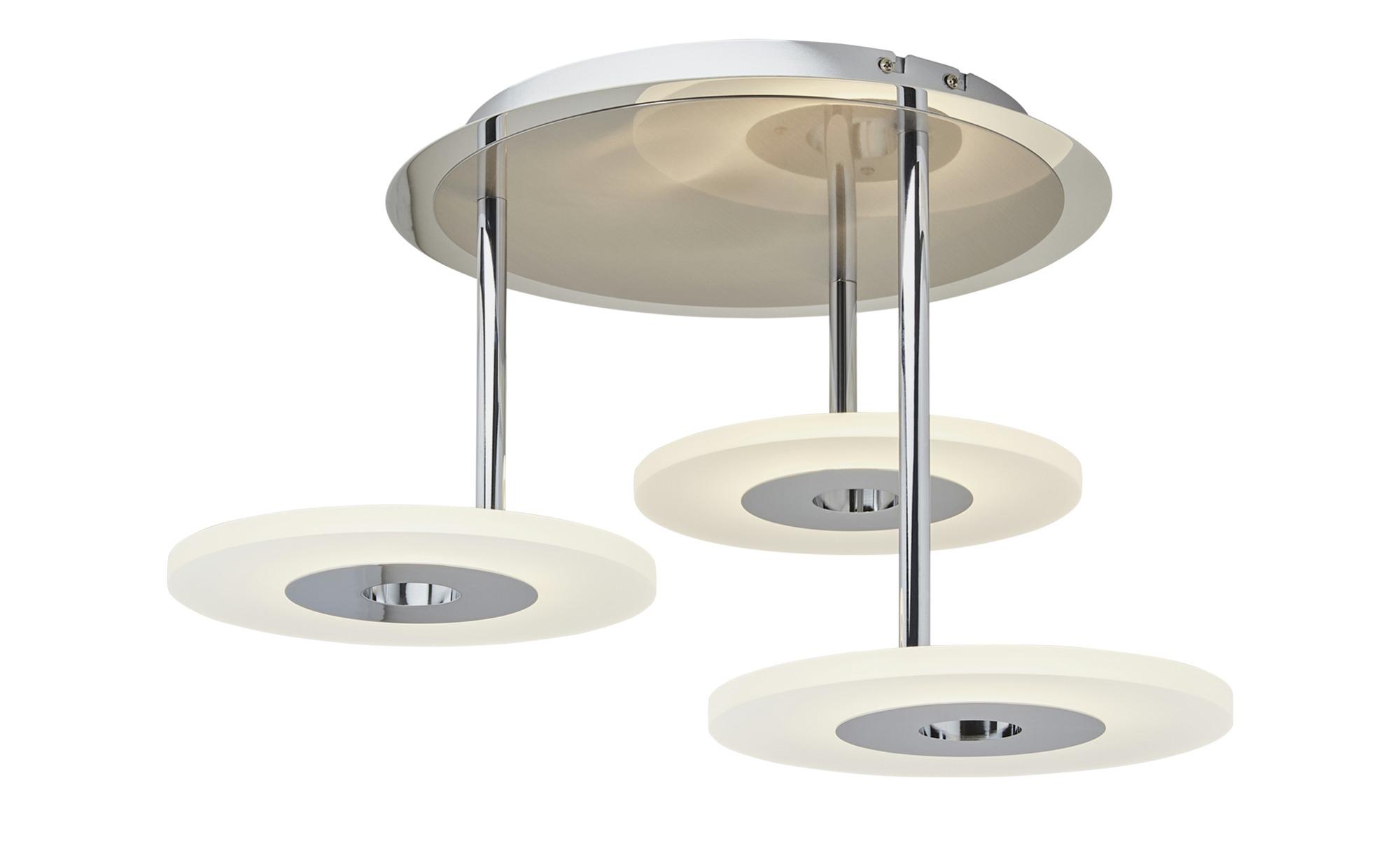 Paul Neuhaus LED-Deckenleuchte, Acrylringe ¦ silber ¦ Maße (cm): H: 35,5 Ø: [60.0] Lampen & Leuchten > Innenleuchten > Deckenleuchten - Höffner