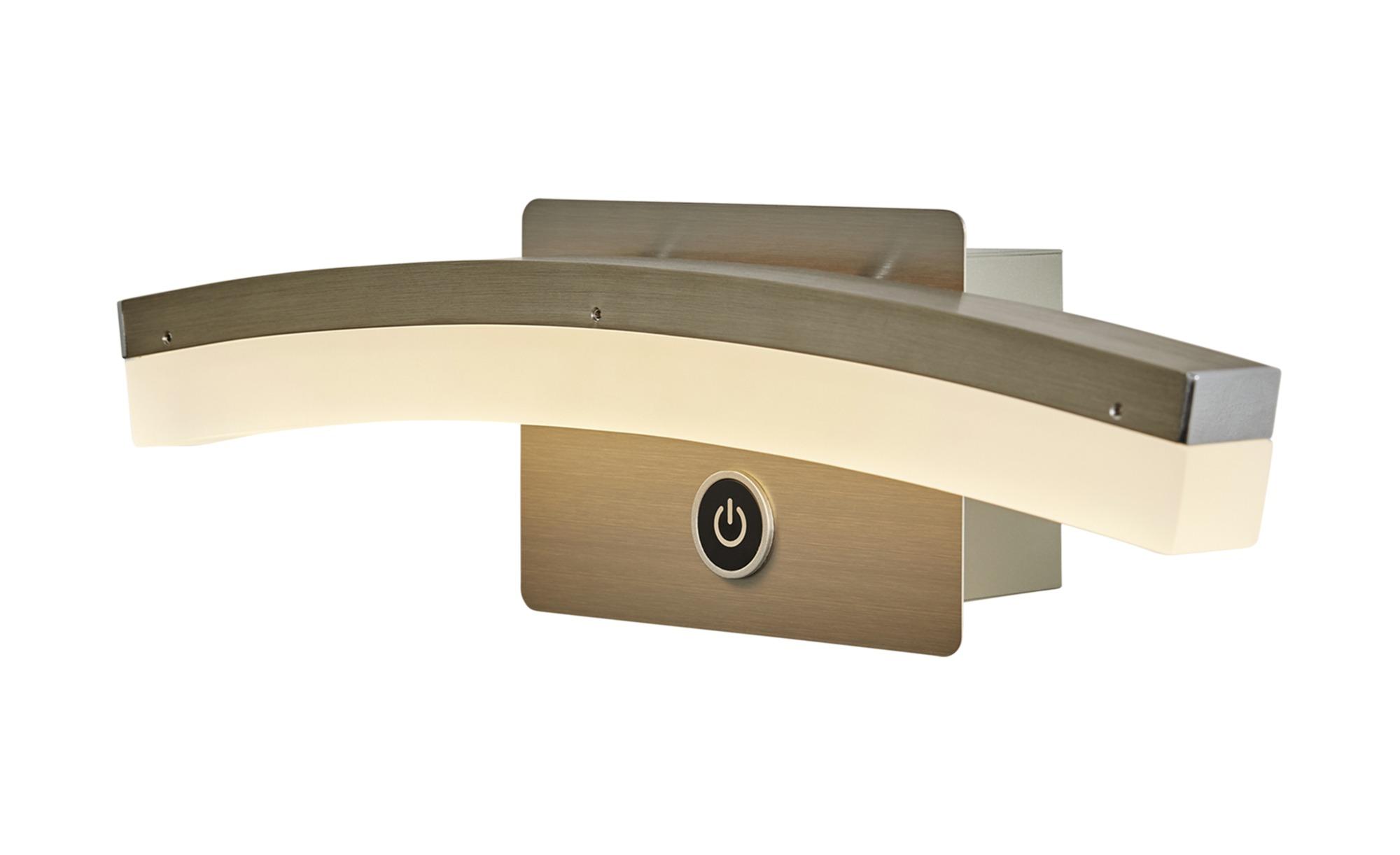 Wofi LED-Wandleuchte, gebogen mit 3-Stufen-Dimmer ¦ silber ¦ Maße (cm): B: 31 H: 8 T: 7 Lampen & Leuchten > Innenleuchten > Wandleuchten - Höffner