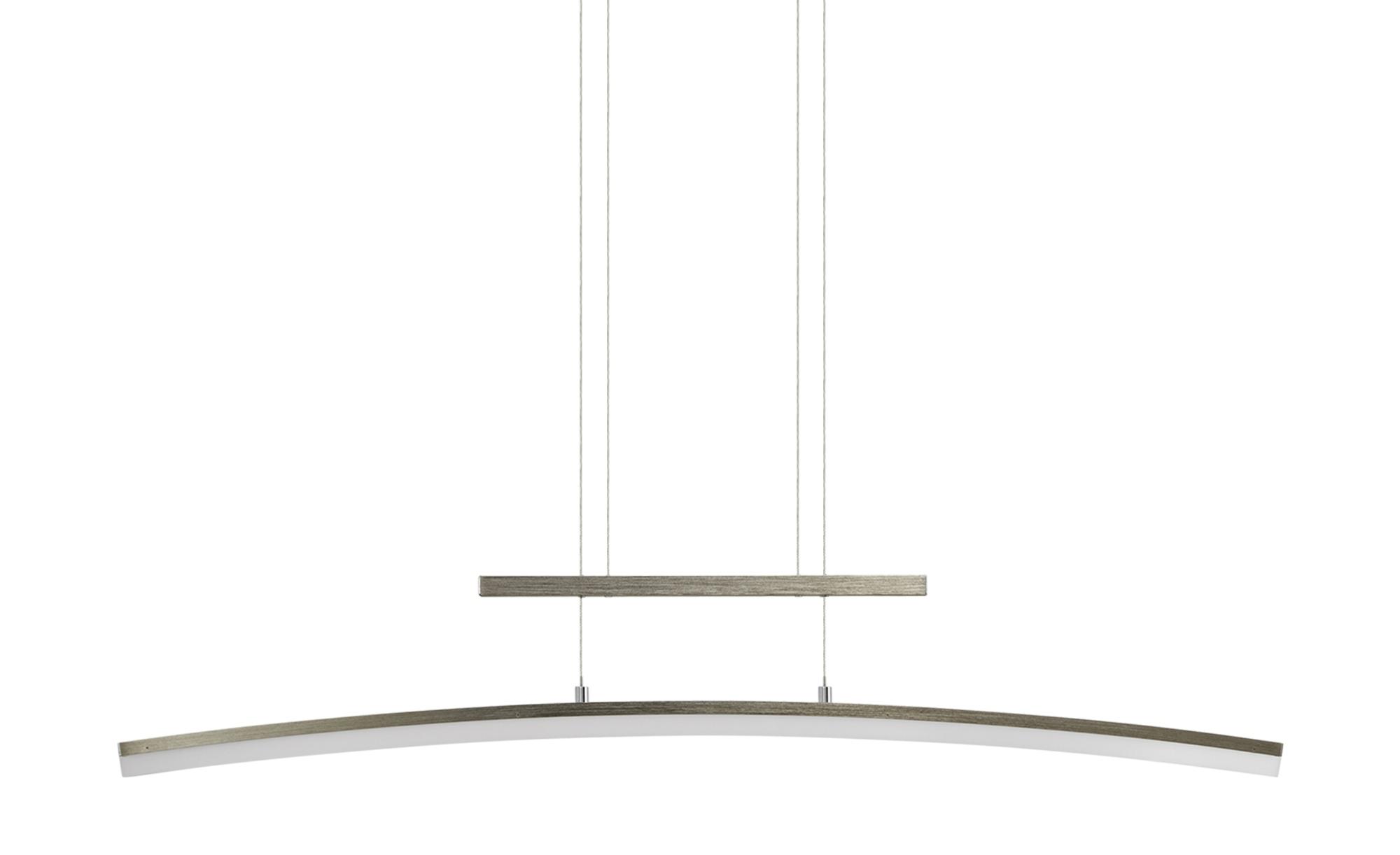 Wofi LED-Pendelleuchte, gebogen ¦ silber ¦ Maße (cm): B: 110 H: 150 T: 8 Lampen & Leuchten > LED-Leuchten > LED-Pendelleuchten - Höffner