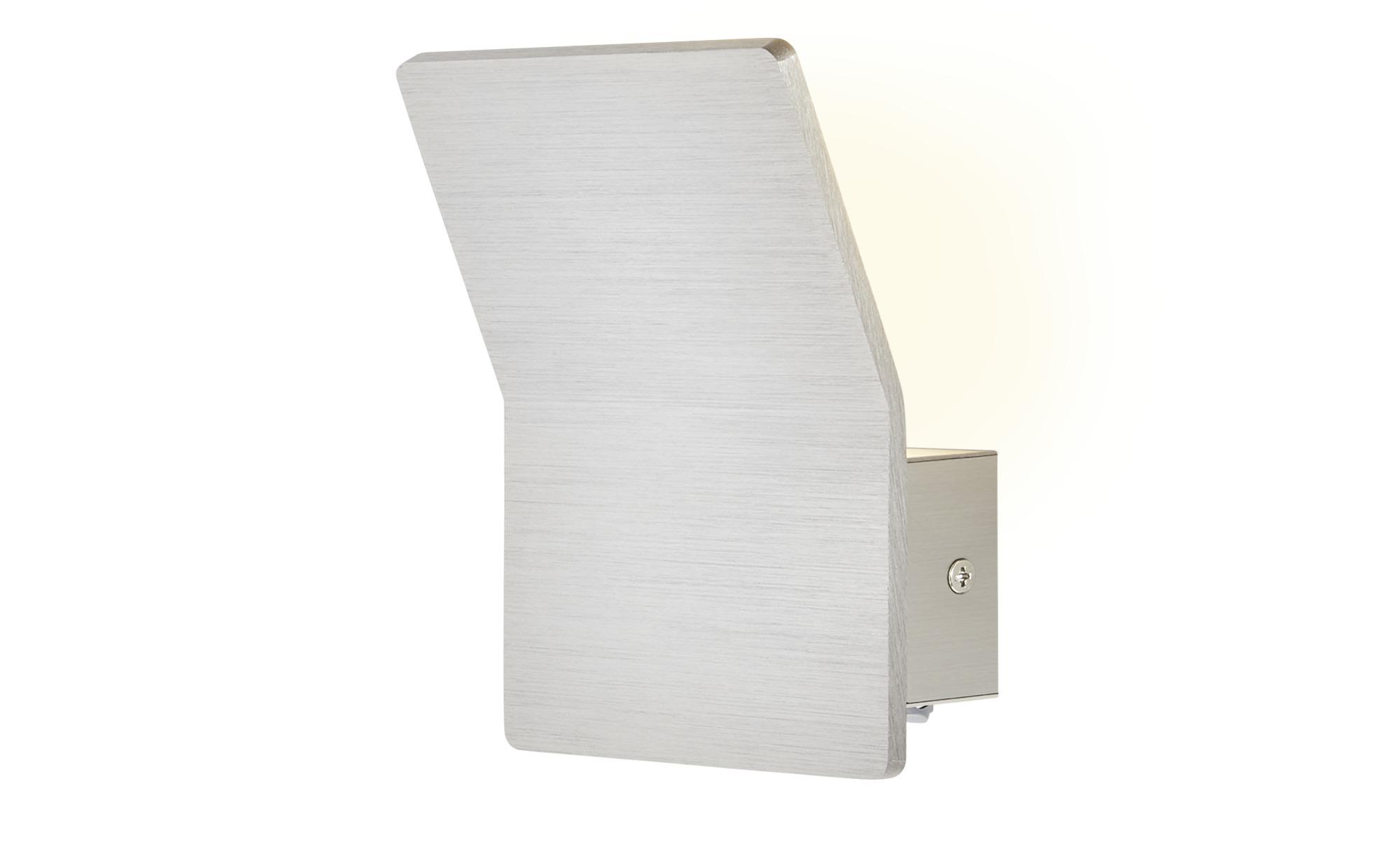 ML LED-Wandleuchte, 1-flammig Nickel matt ¦ silber ¦ Maße (cm): B: 12 H: 7 Lampen & Leuchten > Innenleuchten > Wandleuchten - Höffner