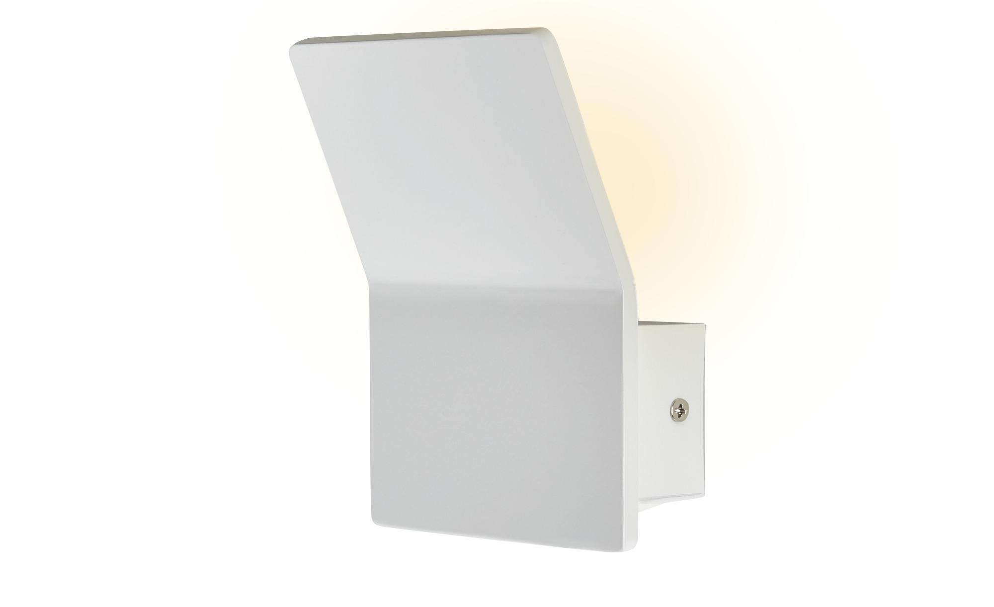 ML LED-Wandleuchte, 1-flammig, Weiß ¦ weiß ¦ Maße (cm): B: 12 H: 7 Lampen & Leuchten > Innenleuchten > Wandleuchten - Höffner