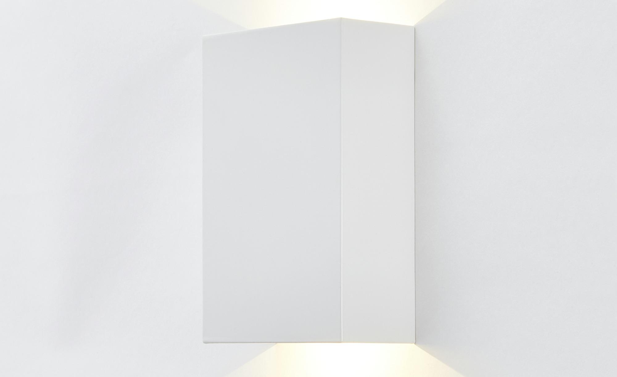 ML LED-Wandleuchte, 2-flammig Weiß ¦ weiß ¦ Maße (cm): B: 10 H: 4,7 Lampen & Leuchten > Innenleuchten > Wandleuchten - Höffner