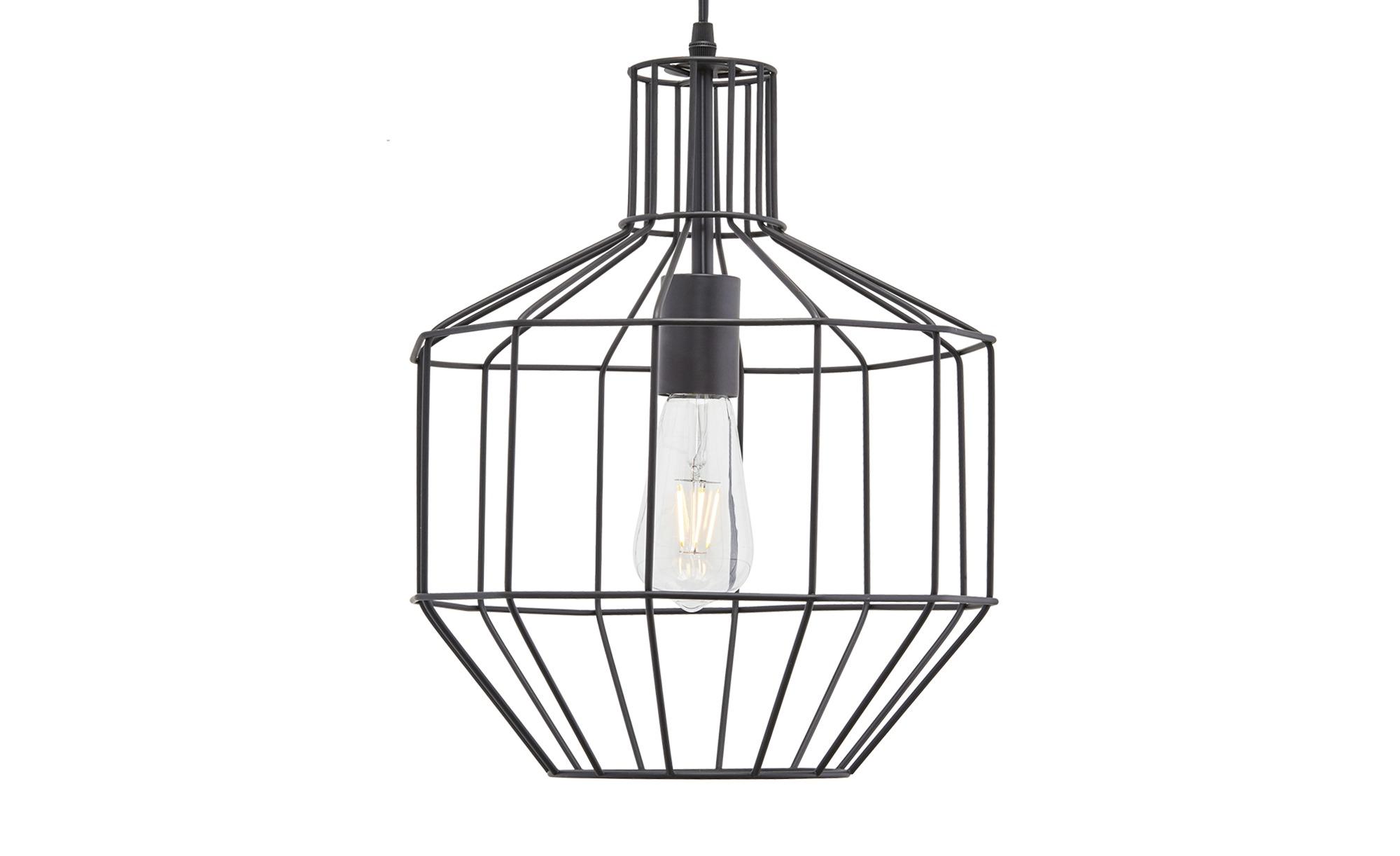 HOME STORY Pendelleuchte ¦ schwarz ¦ Maße (cm): H: 150 Ø: 29.5 Lampen & Leuchten > Innenleuchten > Pendelleuchten - Höffner
