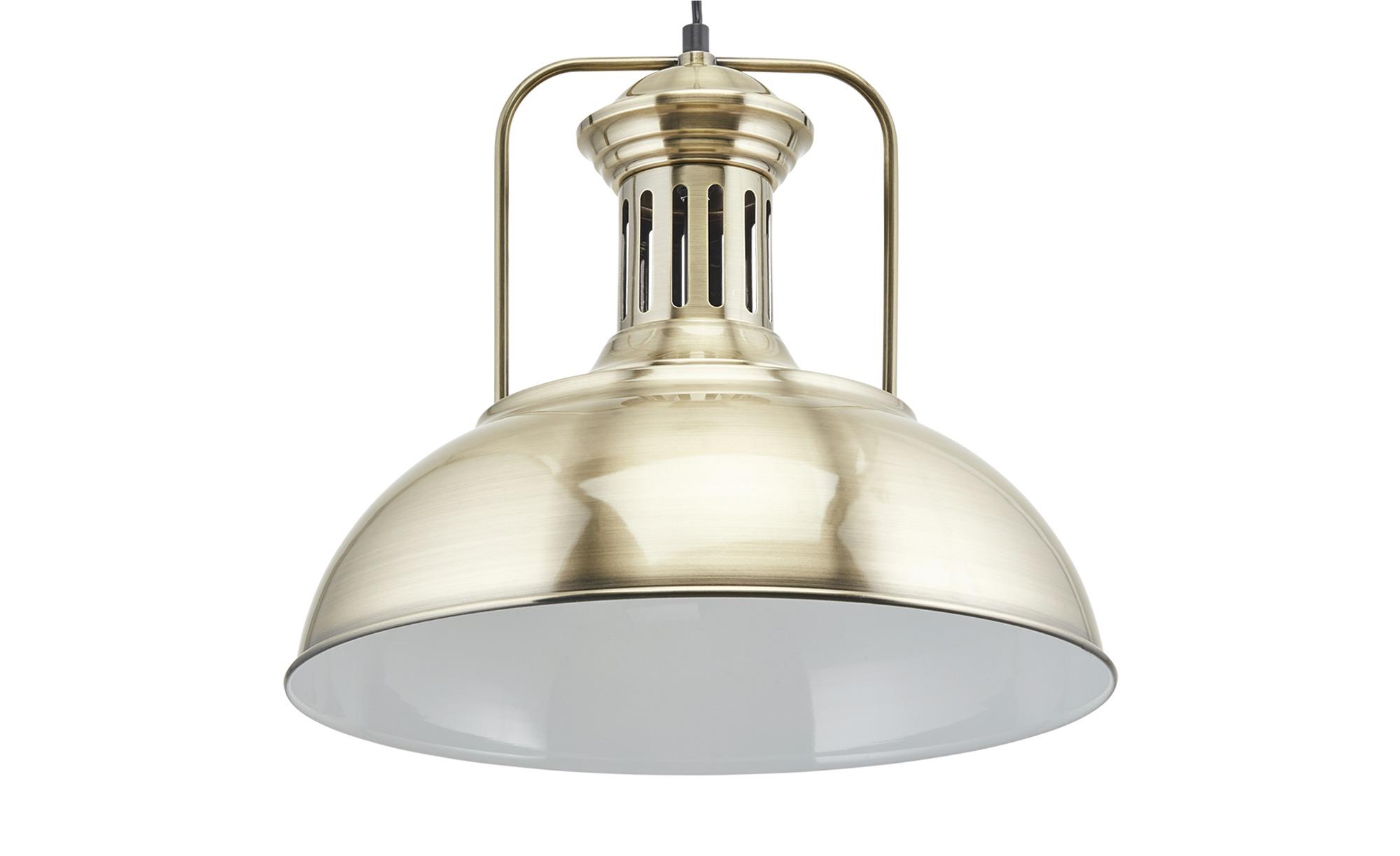 HOME STORY Pendelleuchte, 1-flammig ¦ gold ¦ Maße (cm): H: 150 Ø: [41.0] Lampen & Leuchten > Innenleuchten > Pendelleuchten - Höffner