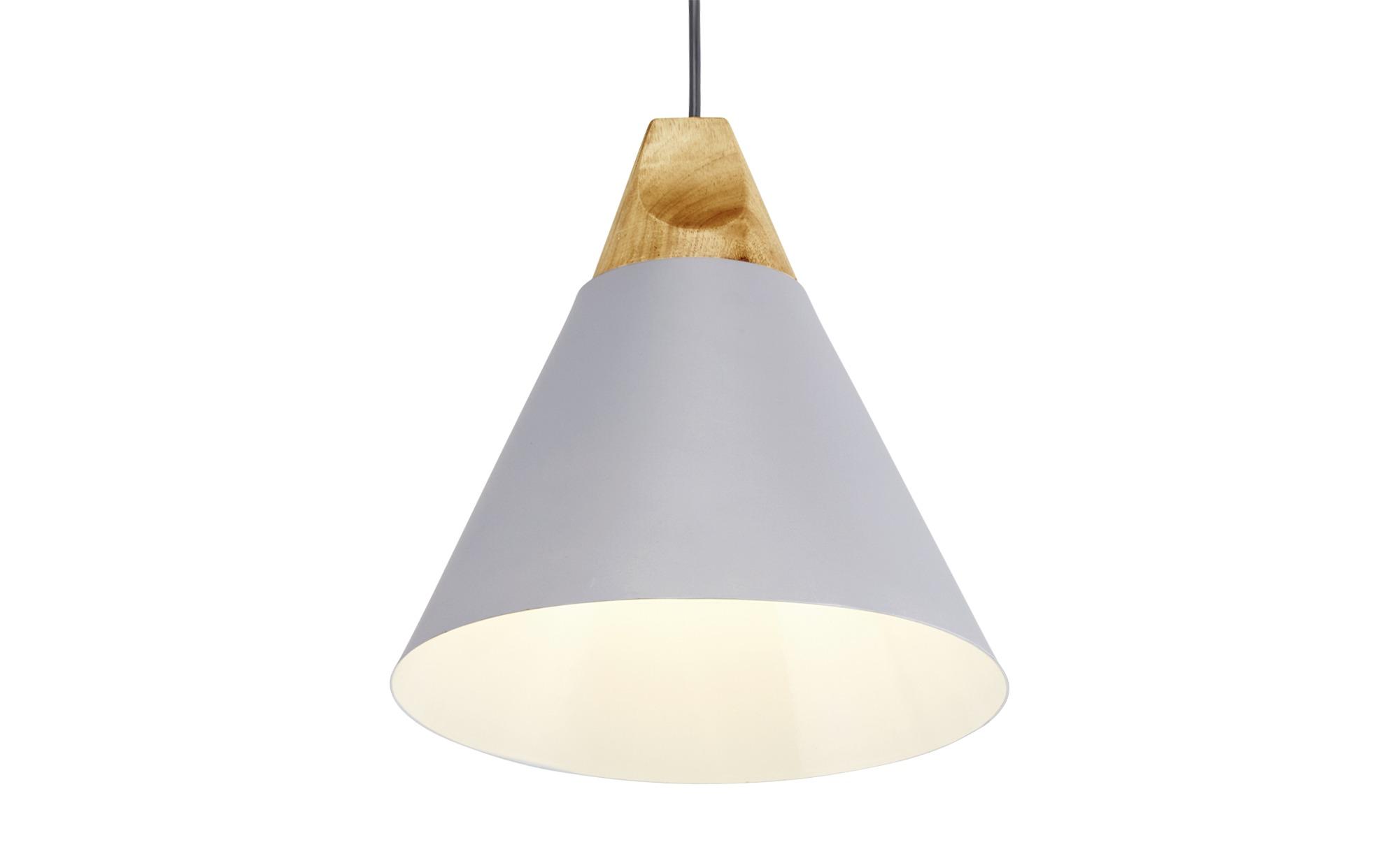 HOME STORY Pendelleuchte, 1-flammig ¦ grau ¦ Maße (cm): H: 150 Ø: [25.0] Lampen & Leuchten > Innenleuchten > Pendelleuchten - Höffner
