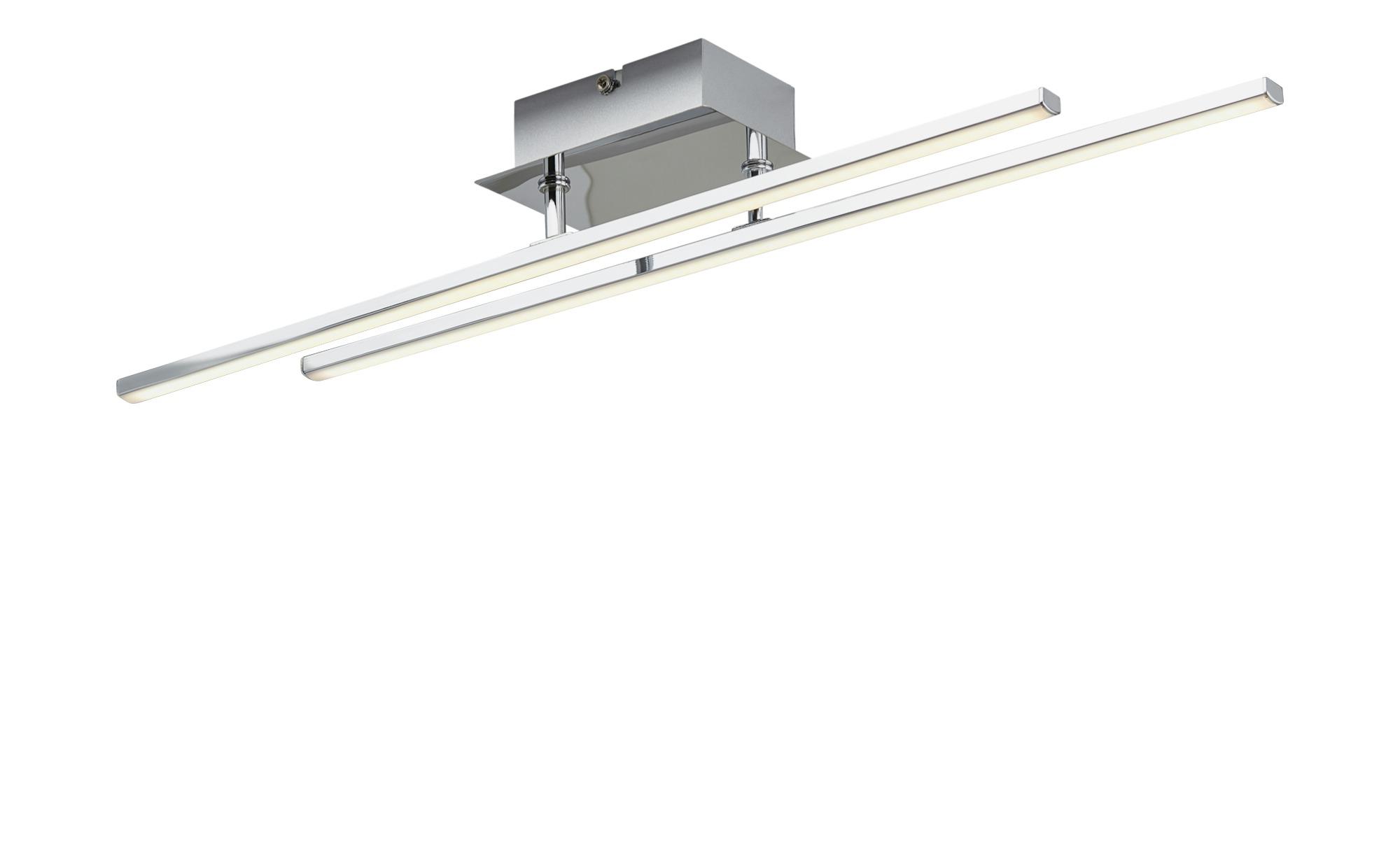KHG LED-Deckenleuchte, 2-flammig chrom ¦ silber ¦ Maße (cm): B: 8 H: 4,5 Lampen & Leuchten > Innenleuchten > Deckenleuchten - Höffner
