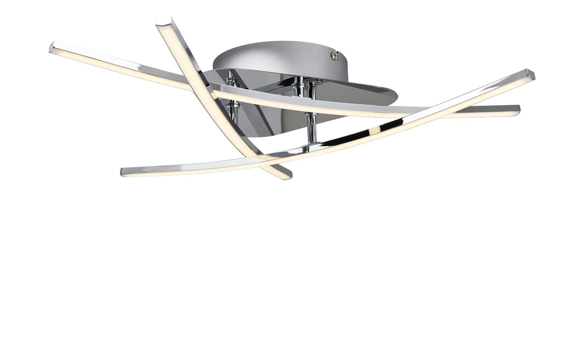 KHG LED-Deckenleuchte, 3-flammig ¦ silber ¦ Maße (cm): B: 57 H: 9 Lampen & Leuchten > Innenleuchten > Deckenleuchten - Höffner