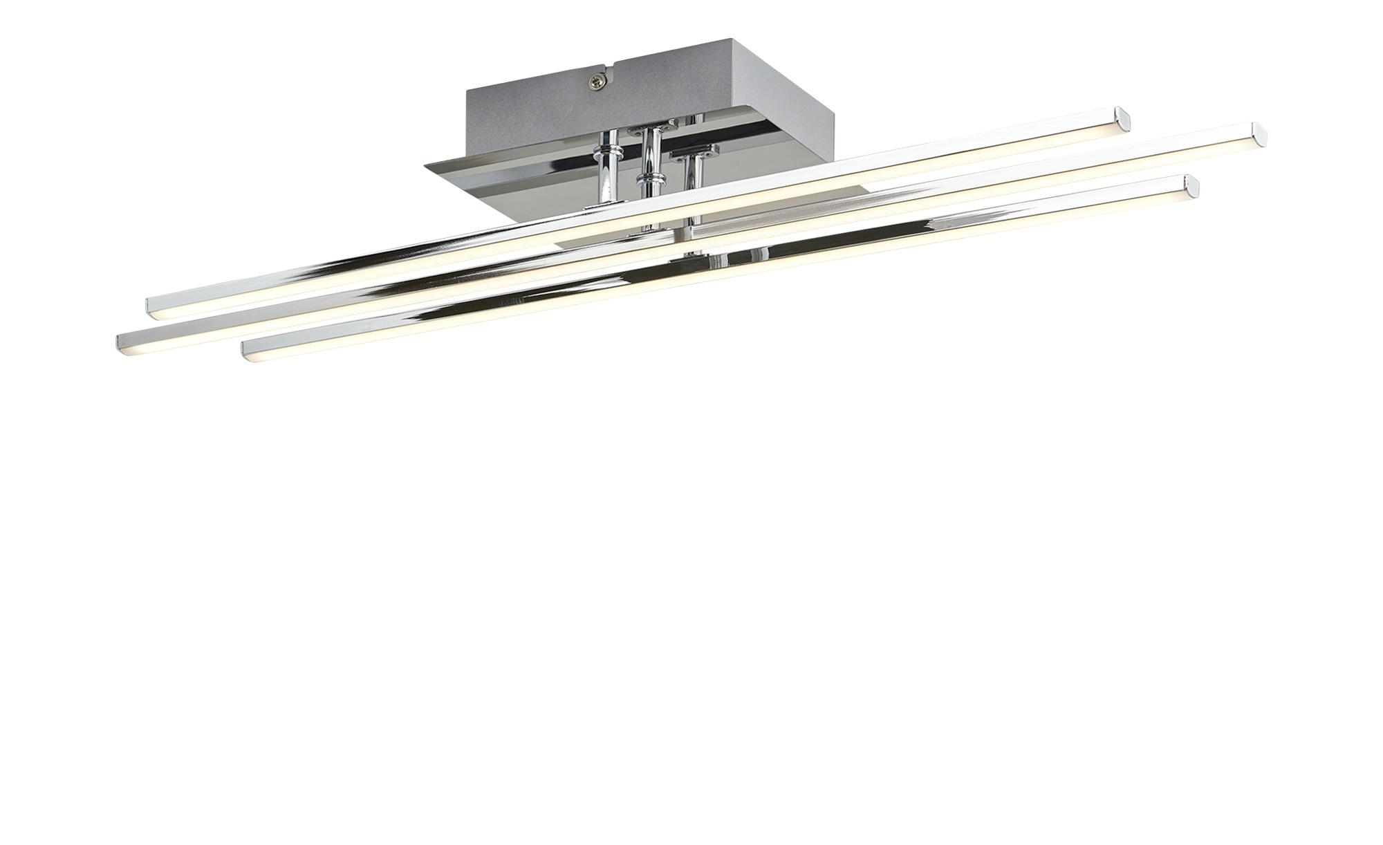 KHG LED-Deckenleuchte, 3-flammig chrom ¦ silber ¦ Maße (cm): B: 12 H: 4,5 Lampen & Leuchten > Innenleuchten > Deckenleuchten - Höffner