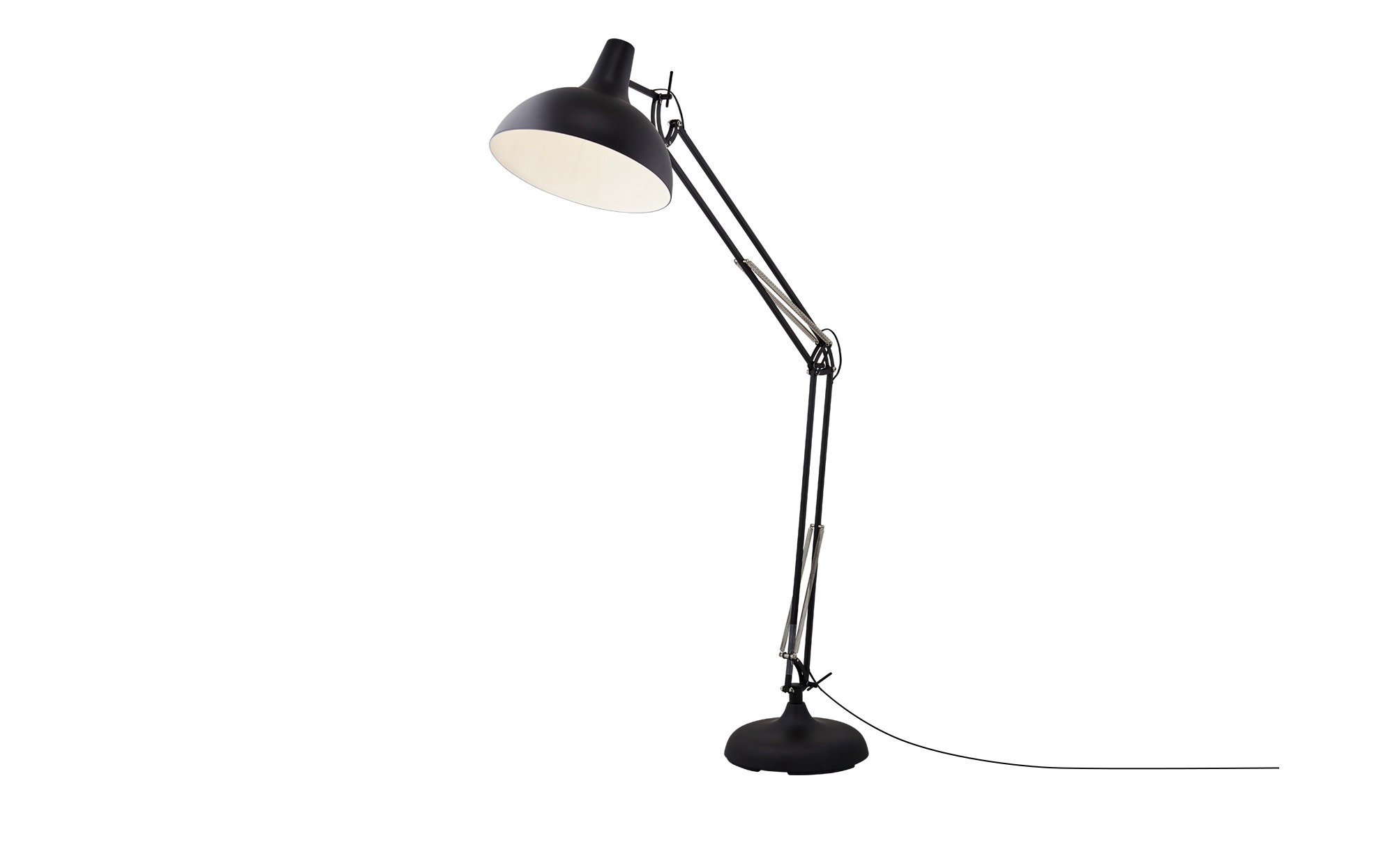 HOME STORY Stehleuchte, 1-flammig Schwarz ¦ schwarz ¦ Maße (cm): B: 37,5 H: 180 Lampen & Leuchten > Innenleuchten > Stehlampen - Höffner
