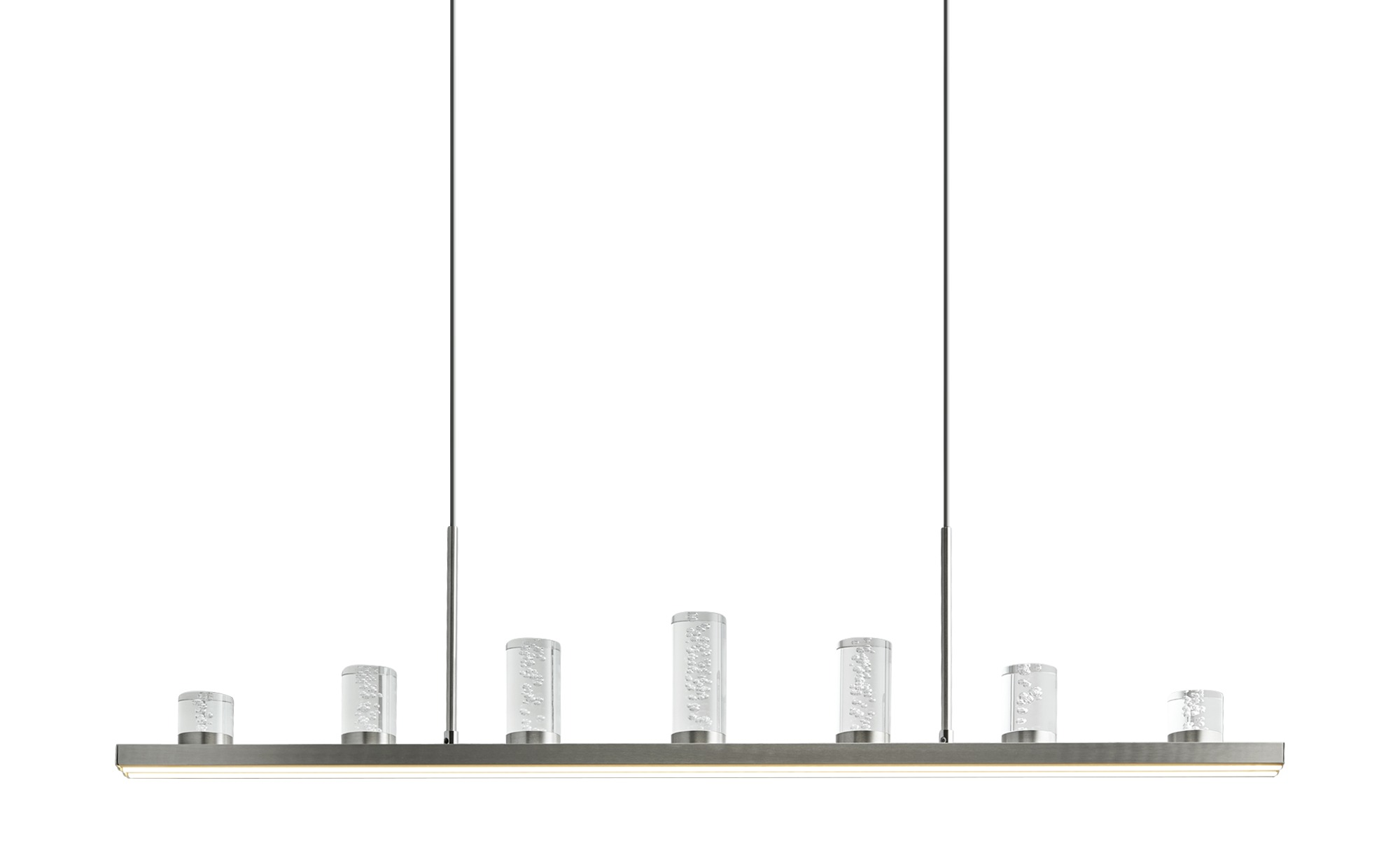 KHG LED-Pendelleuchte mit Fernbedienung ¦ silber ¦ Maße (cm): B: 8 H: 120 Lampen & Leuchten > LED-Leuchten > LED-Pendelleuchten - Höffner