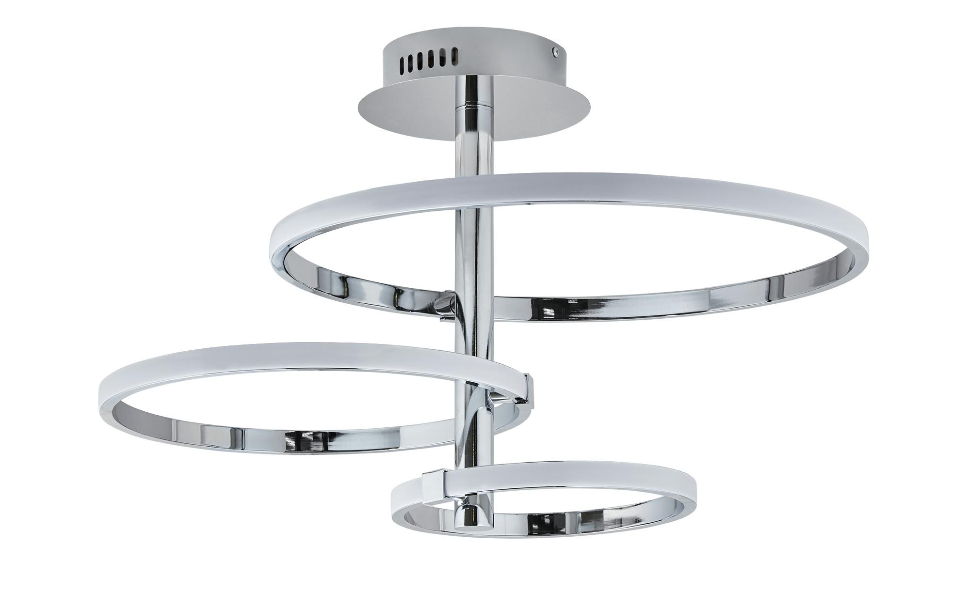 KHG LED-Deckenleuchte, Ringe ¦ silber ¦ Maße (cm): B: 57 H: 40 Ø: 57 Lampen & Leuchten > Innenleuchten > Deckenleuchten - Höffner