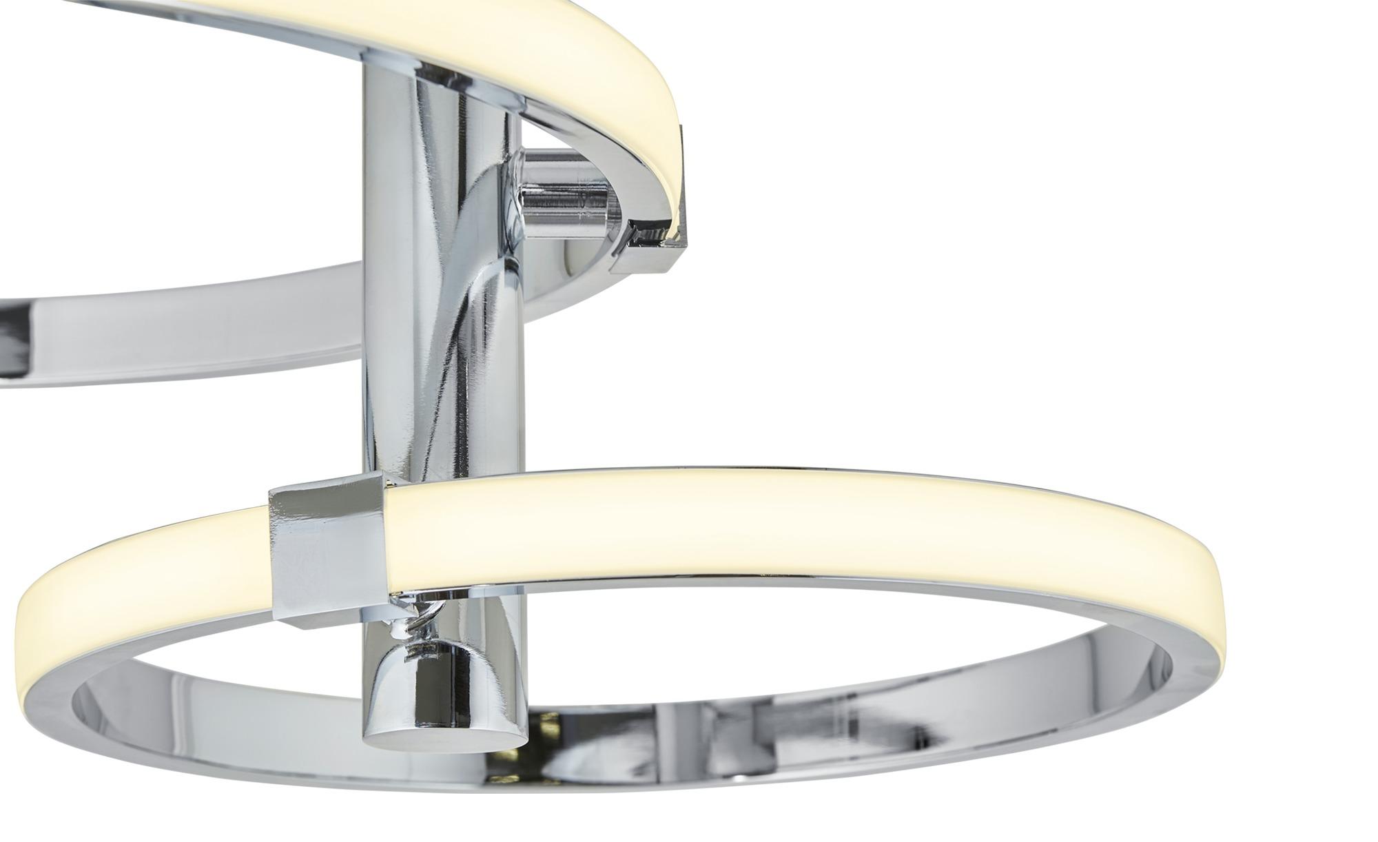 KHG LED-Deckenleuchte, Ringe ¦ silber ¦ Maße (cm): B: 57 H: 40 Ø: [57.0] Lampen & Leuchten > Innenleuchten > Deckenleuchten - Höffner