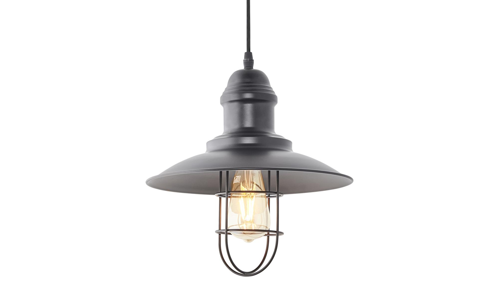 HOME STORY Pendelleuchte 1-flammig Schwarz ¦ schwarz ¦ Maße (cm): B: 30 H: 150 Lampen & Leuchten > Innenleuchten > Pendelleuchten - Höffner