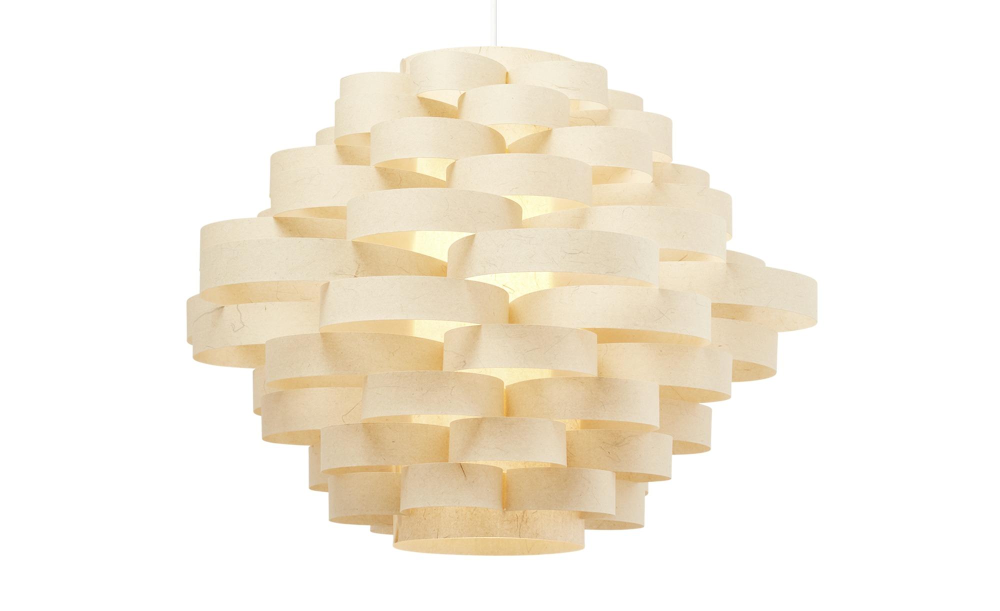 KHG Papierpendelleuchte, 1-flammig, braun ¦ braun ¦ Maße (cm): H: 120 Ø: [53.0] Lampen & Leuchten > Innenleuchten > Pendelleuchten - Höffner