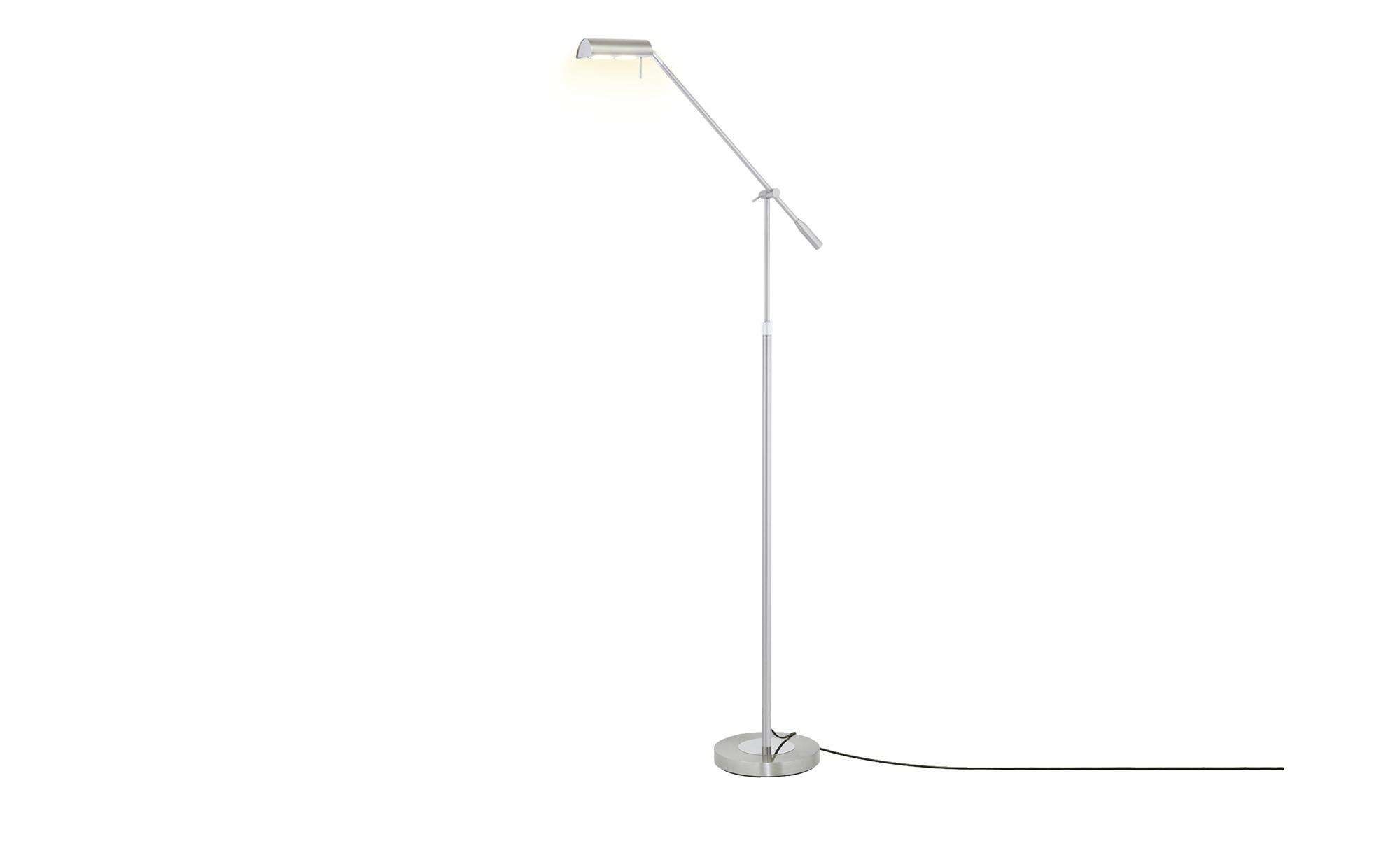 KHG LED-Stehleuchte, 1-flammig nickel matt ¦ silber ¦ Maße (cm): B: 22 H: 125 Lampen & Leuchten > Innenleuchten > Stehlampen - Höffner