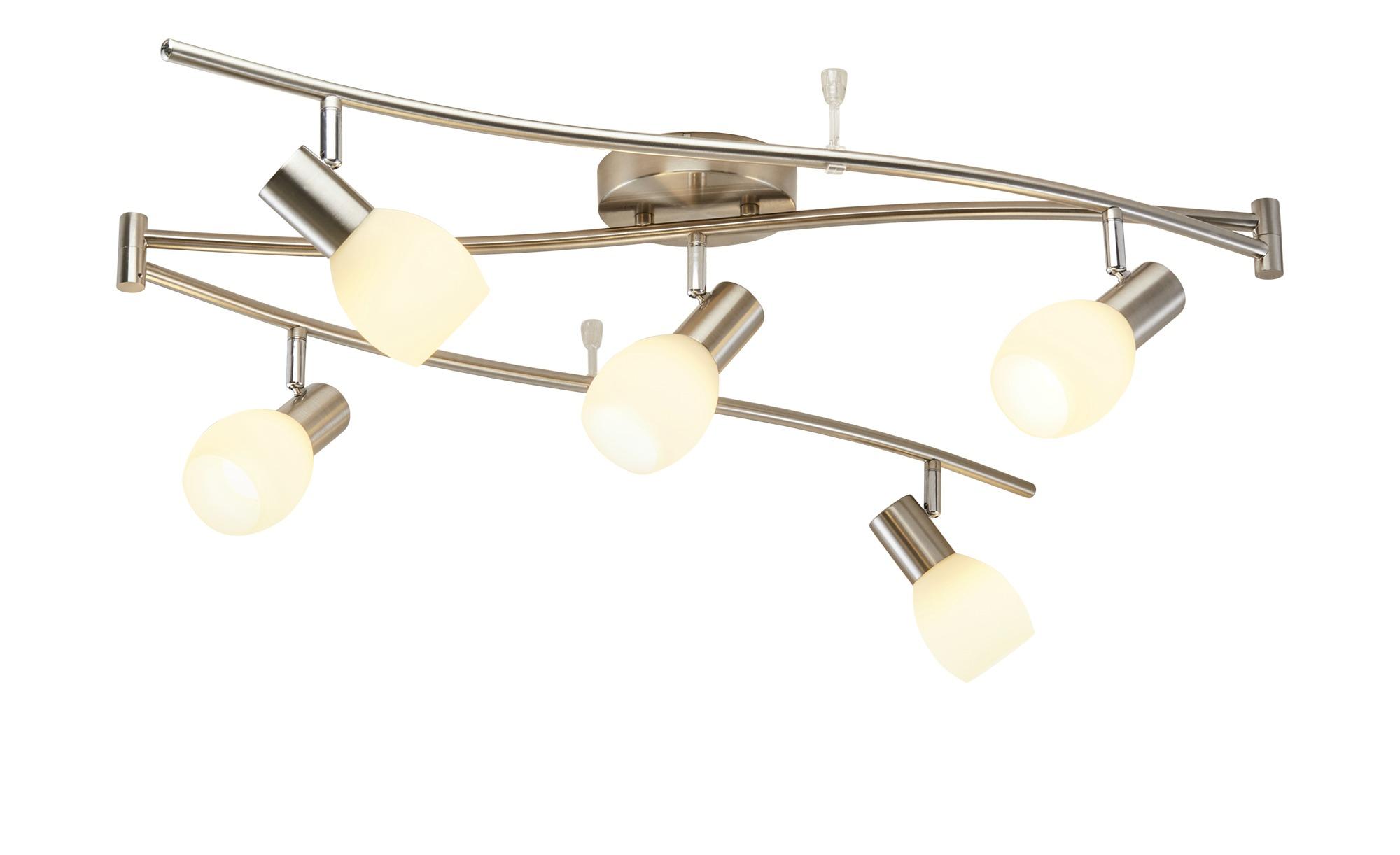 KHG Deckenstrahler, 5-flammig Nickel matt ¦ silber ¦ Maße (cm): B: 13 H: 23 Lampen & Leuchten > LED-Leuchten > LED-Strahler & Spots - Höffner