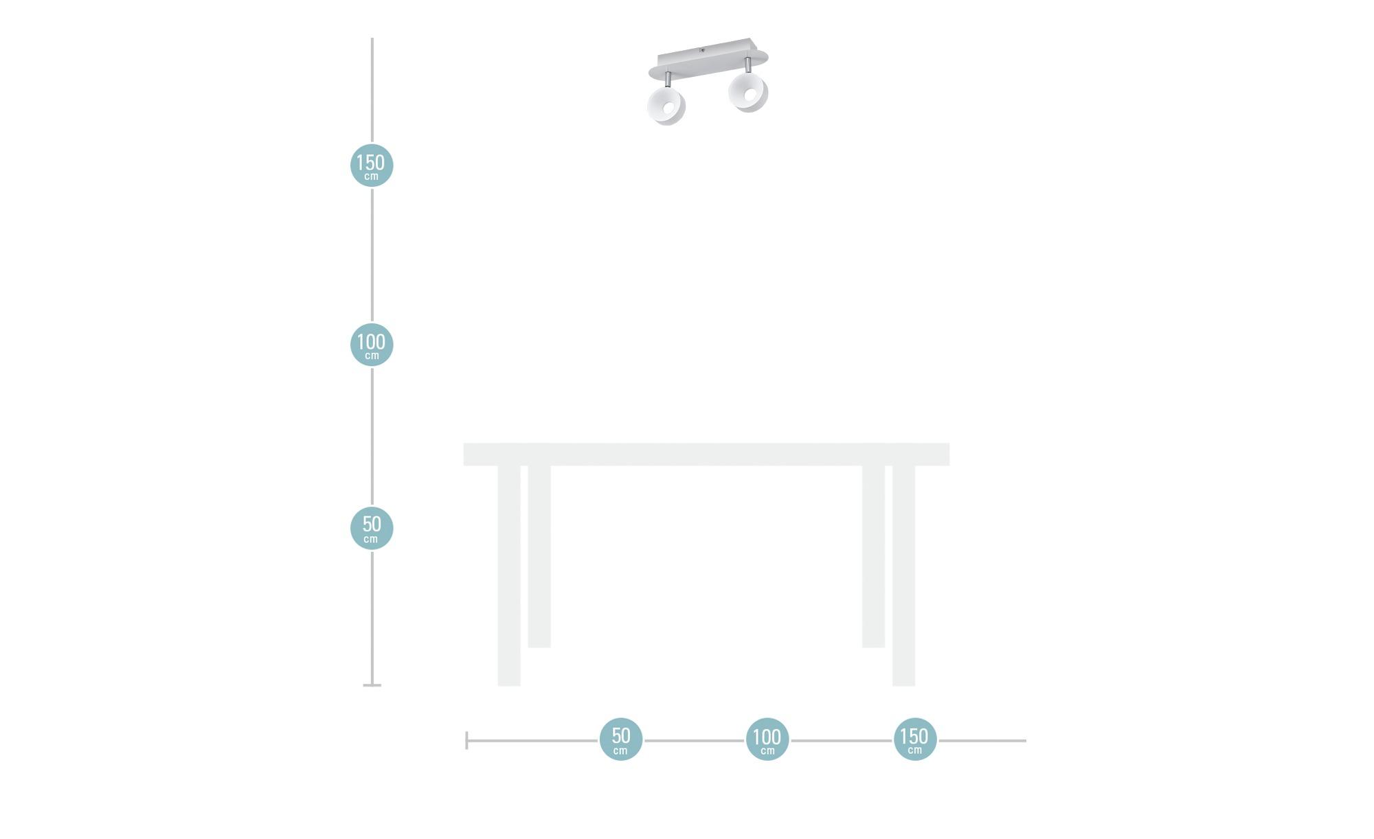 KHG LED-Spot, 2-flammig weiß ¦ weiß ¦ Maße (cm): B: 8 H: 16 Lampen & Leuchten > LED-Leuchten > LED-Strahler & Spots - Höffner