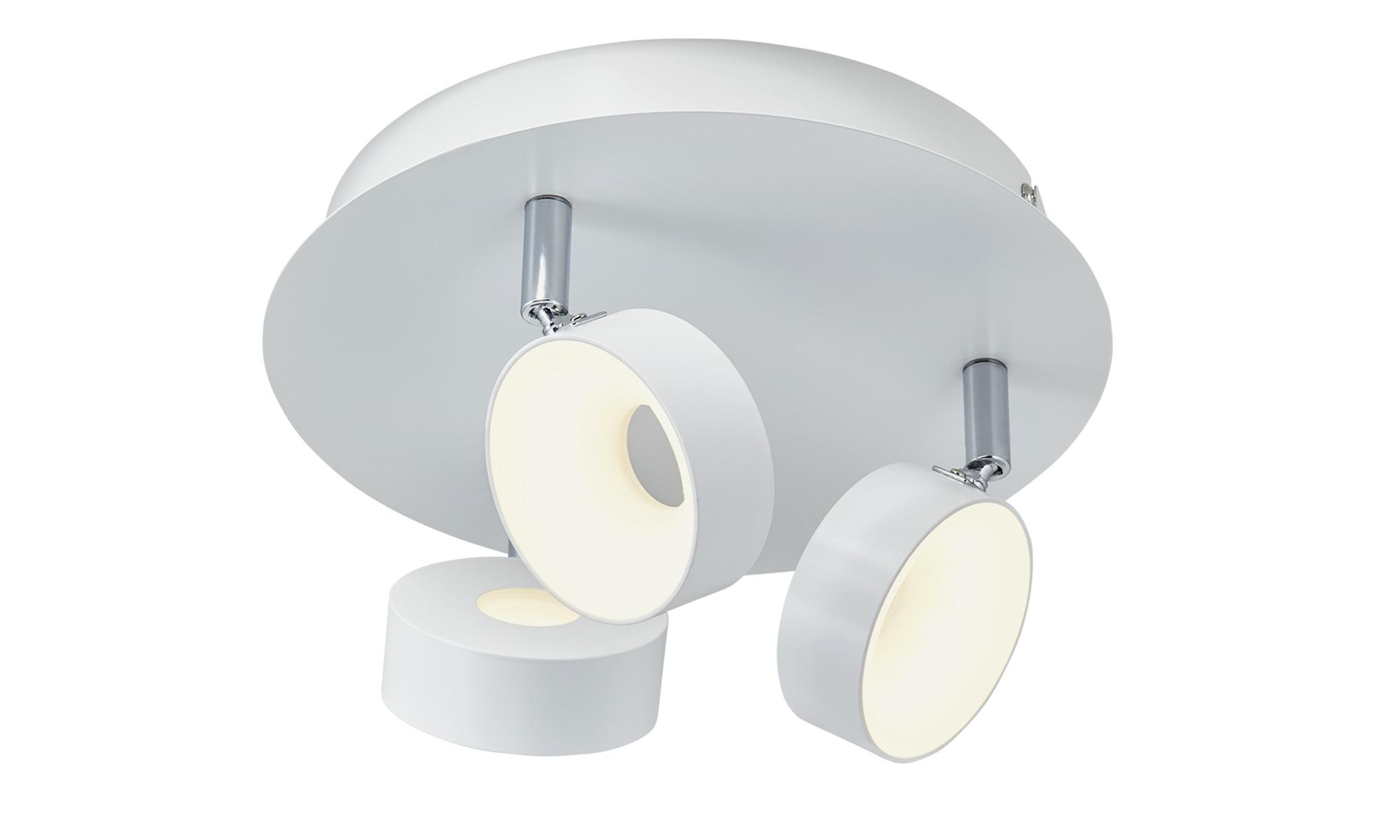 KHG LED-Spot, 3-flammig weiß ¦ weiß ¦ Maße (cm): H: 16 Ø: [29.0] Lampen & Leuchten > LED-Leuchten > LED-Strahler & Spots - Höffner