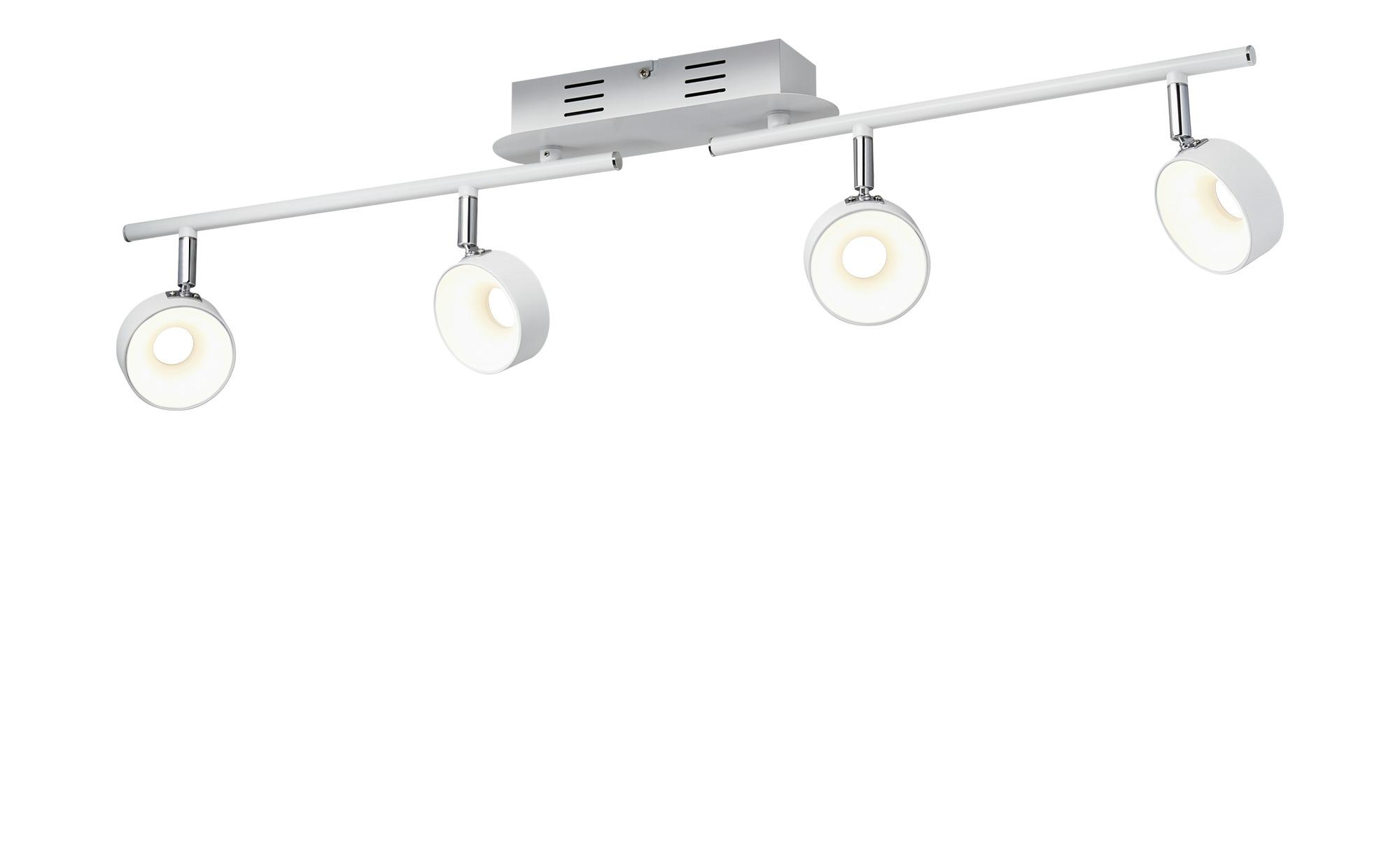 KHG LED-Spot 4-flammig weiß ¦ weiß ¦ Maße (cm): B: 8 H: 18,5 Lampen & Leuchten > LED-Leuchten > LED-Strahler & Spots - Höffner