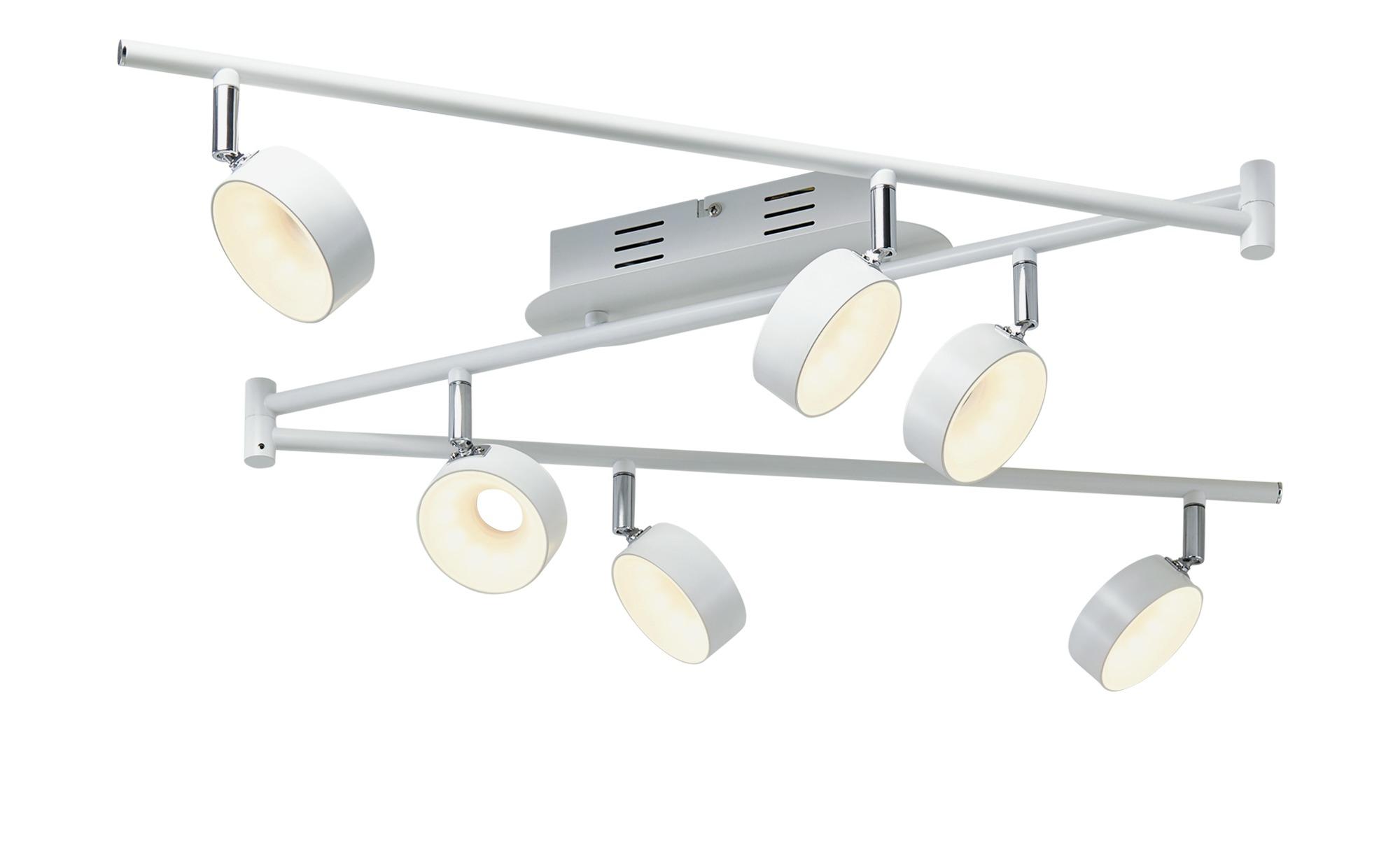 KHG LED-Spot, 6-flammig weiß ¦ weiß ¦ Maße (cm): B: 8,5 H: 20,5 Lampen & Leuchten > LED-Leuchten > LED-Strahler & Spots - Höffner