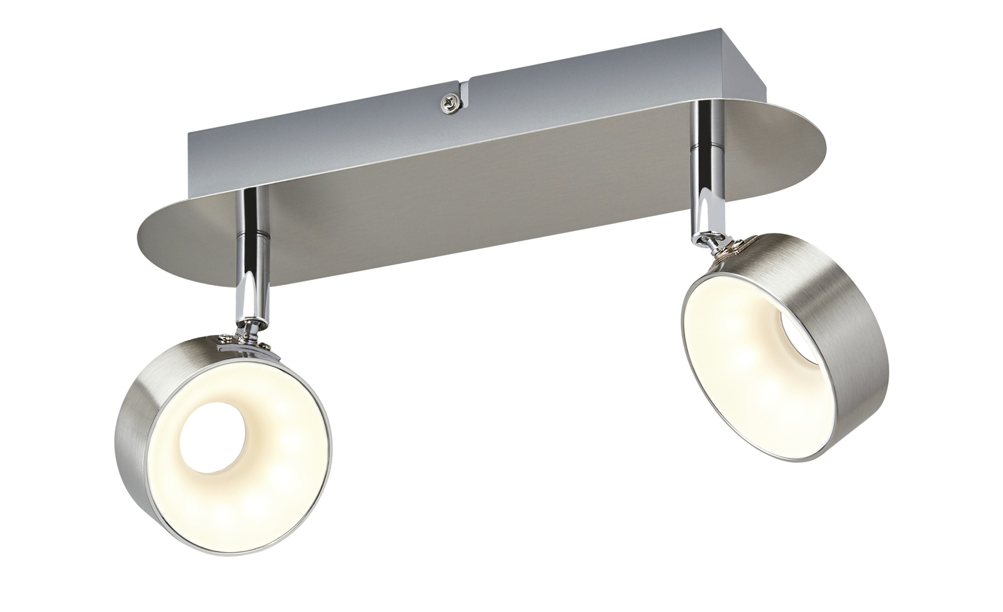 KHG LED-Spot, 2-flammig, Nickel matt ¦ silber ¦ Maße (cm): B: 8 H: 16 Lampen & Leuchten > LED-Leuchten > LED-Strahler & Spots - Höffner