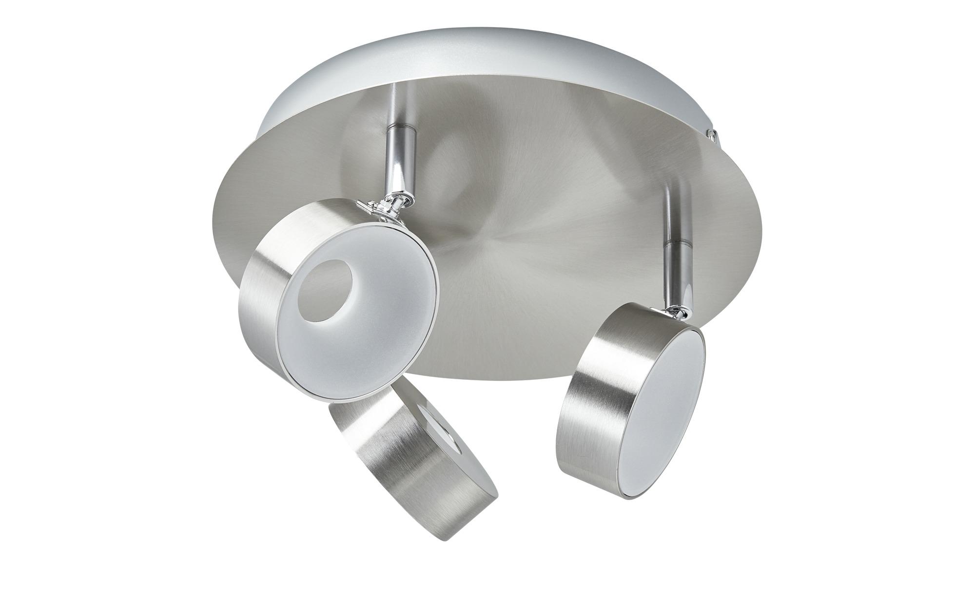 KHG LED-Spot, 3-flammig Nickel matt ¦ silber ¦ Maße (cm): H: 15 Ø: [24.0] Lampen & Leuchten > LED-Leuchten > LED-Strahler & Spots - Höffner