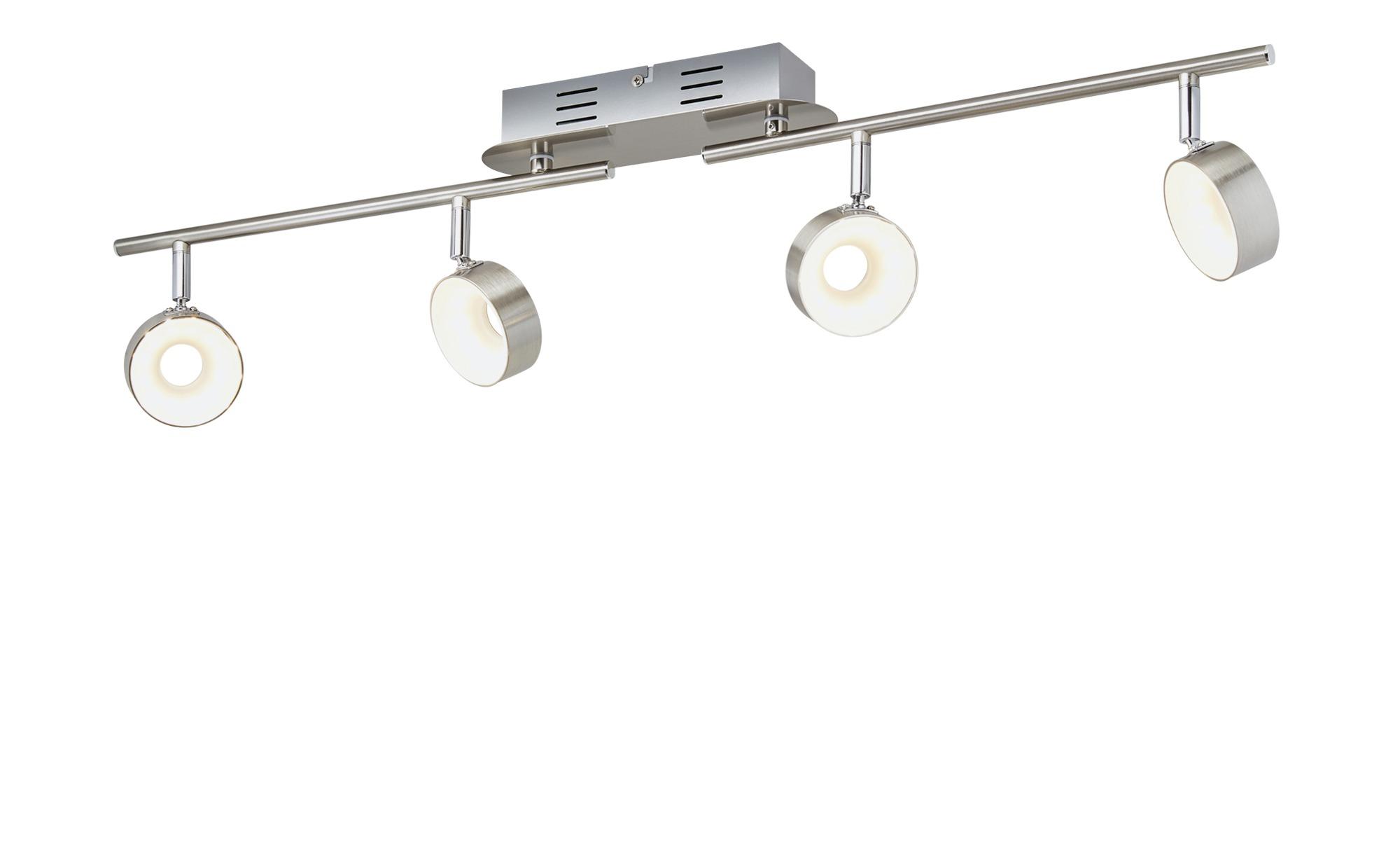 KHG LED-Spot, 4-flammig Nickel matt ¦ silber ¦ Maße (cm): B: 8 H: 18,5 Lampen & Leuchten > LED-Leuchten > LED-Strahler & Spots - Höffner
