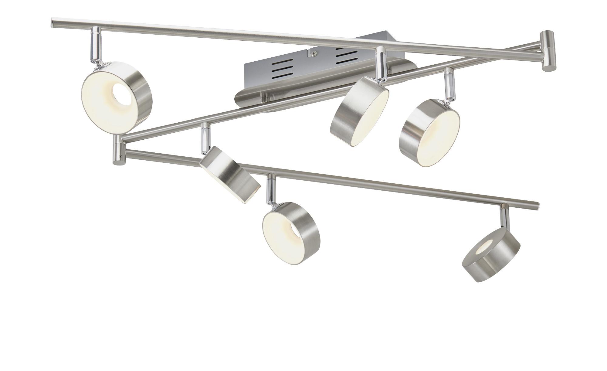 KHG LED-Spot, 6-flammig, Nickel matt ¦ silber ¦ Maße (cm): B: 8,5 H: 20,5 Lampen & Leuchten > LED-Leuchten > LED-Strahler & Spots - Höffner