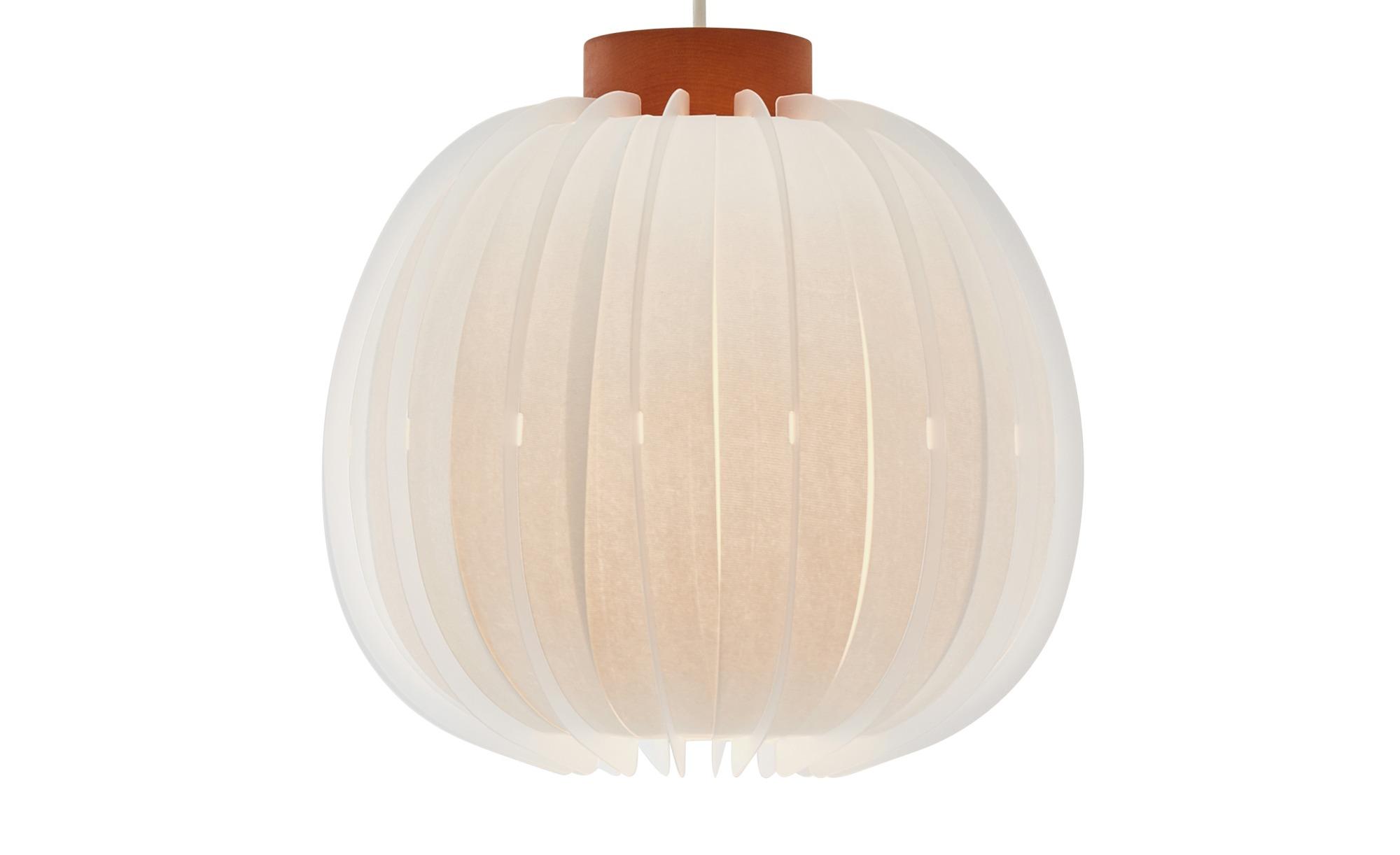 HOME STORY Papierpendelleuchte, 1-flammig Weiß ¦ weiß ¦ Maße (cm): B: 30 H: 120 Ø: 30 Lampen & Leuchten > Innenleuchten > Pendelleuchten - Höffner
