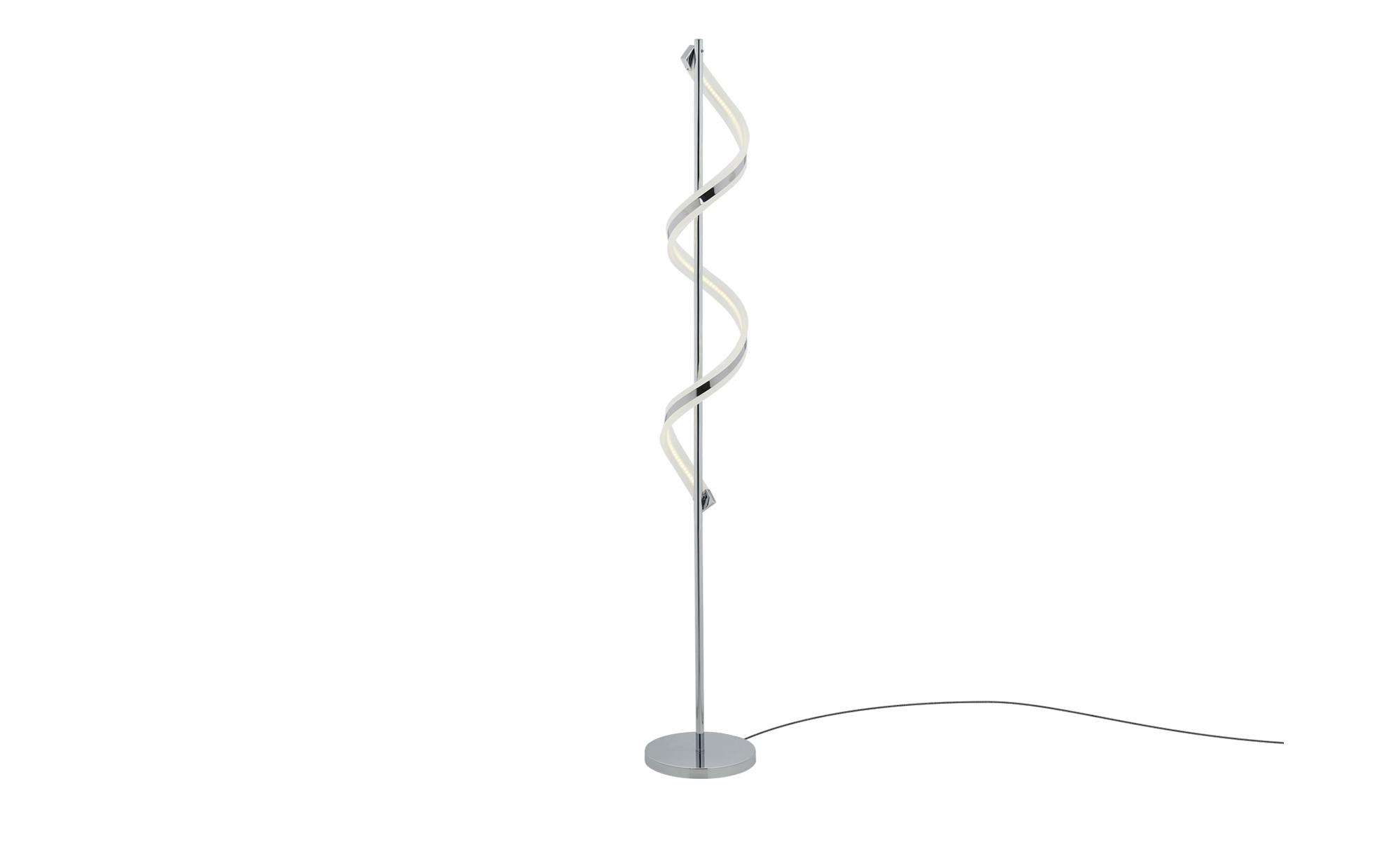 Trio LED-Stehleuchte, chrom, Acryl geschwungen ¦ silber ¦ Maße (cm): H: 162 Ø: 25 Lampen & Leuchten > Innenleuchten > Stehlampen - Höffner