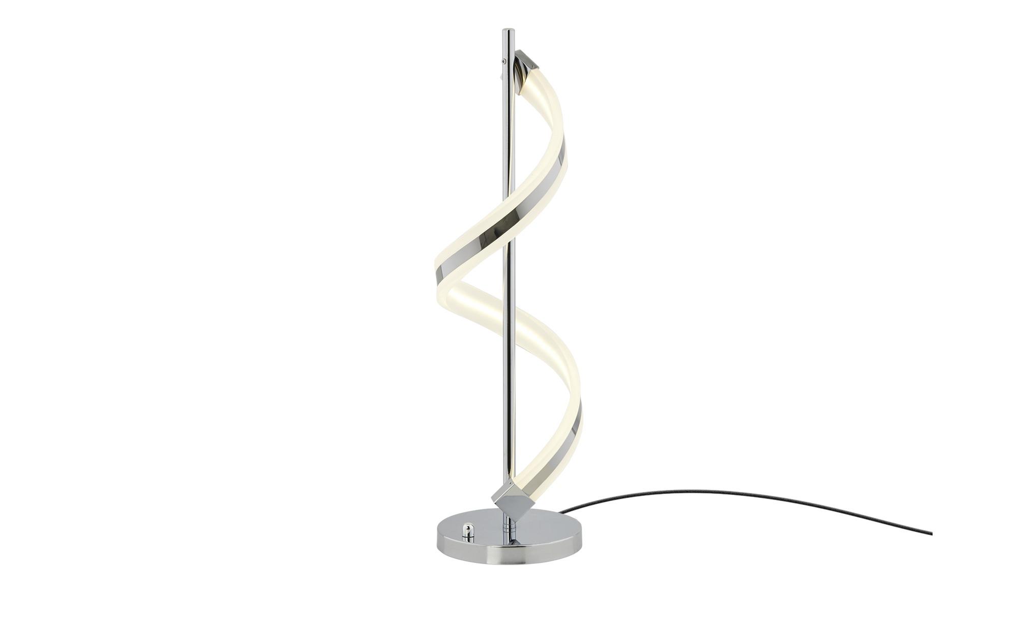 Trio LED-Tischleuchte, chrom, Acryl geschwungen ¦ silber ¦ Maße (cm): H: 63 Ø: [20.0] Lampen & Leuchten > Innenleuchten > Tischlampen - Höffner
