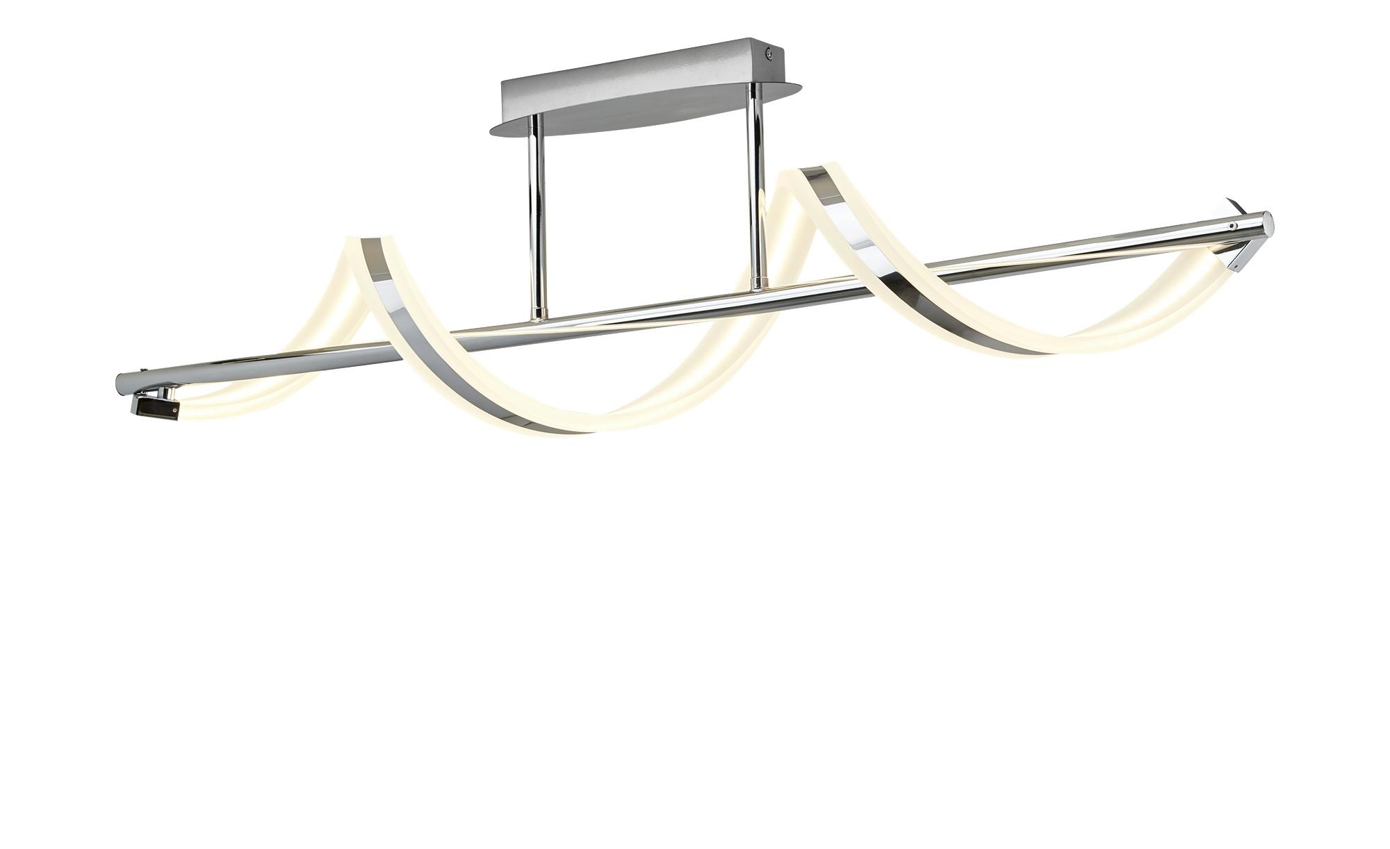 Trio LED-Deckenleuchte, chrom, Acryl geschwungen ¦ silber ¦ Maße (cm): B: 18 H: 27 Lampen & Leuchten > Innenleuchten > Deckenleuchten - Höffner