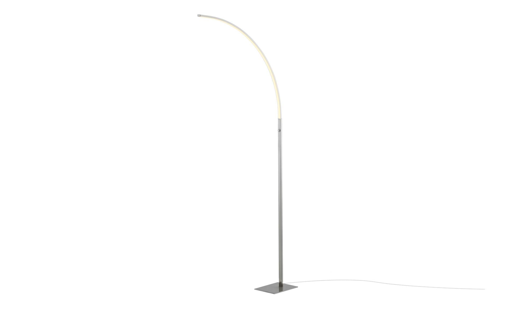 KHG LED-Stehleuchte, 1-flammig, nickel-matt ¦ silber ¦ Maße (cm): B: 18 H: 155 Lampen & Leuchten > Innenleuchten > Stehlampen - Höffner