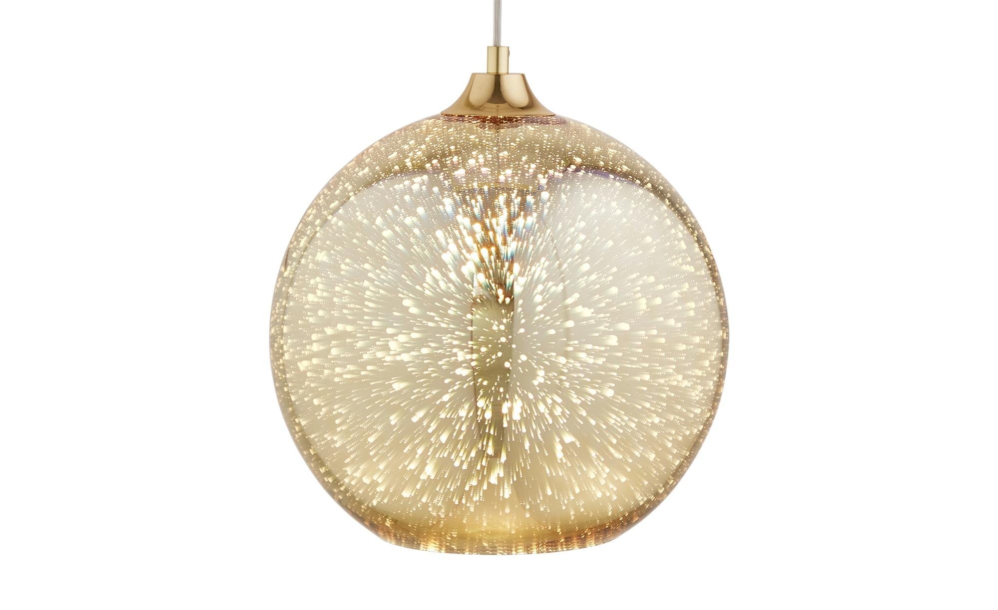 HOME STORY Pendelleuchte, 1-flammig goldfarben ¦ gold ¦ Maße (cm): H: 150 Ø: [30.0] Lampen & Leuchten > Innenleuchten > Pendelleuchten - Höffner