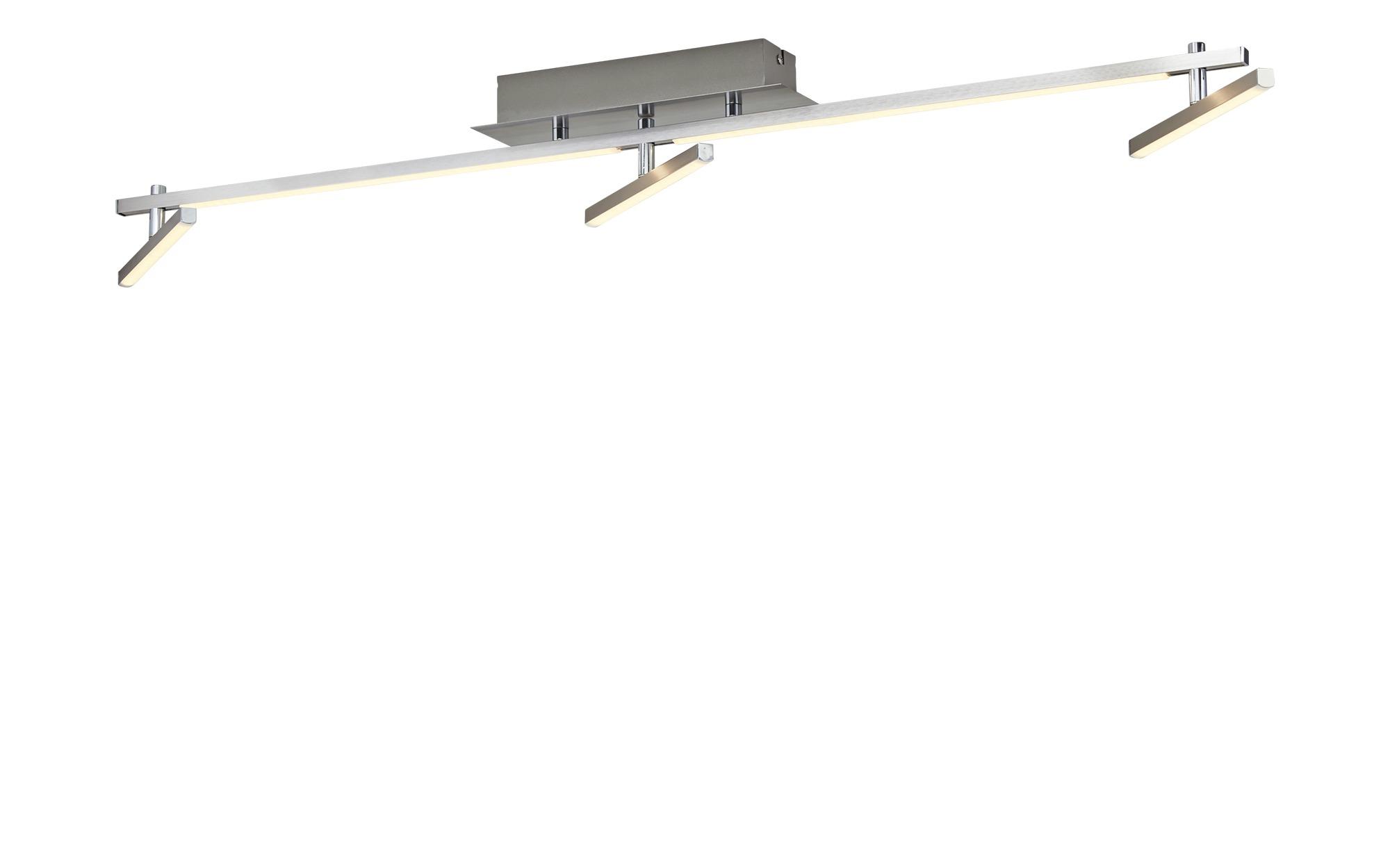 KHG LED-Deckenleuchte, 3+2 flammig nickel matt ¦ silber ¦ Maße (cm): B: 8 H: 10 Lampen & Leuchten > Innenleuchten > Deckenleuchten - Höffner