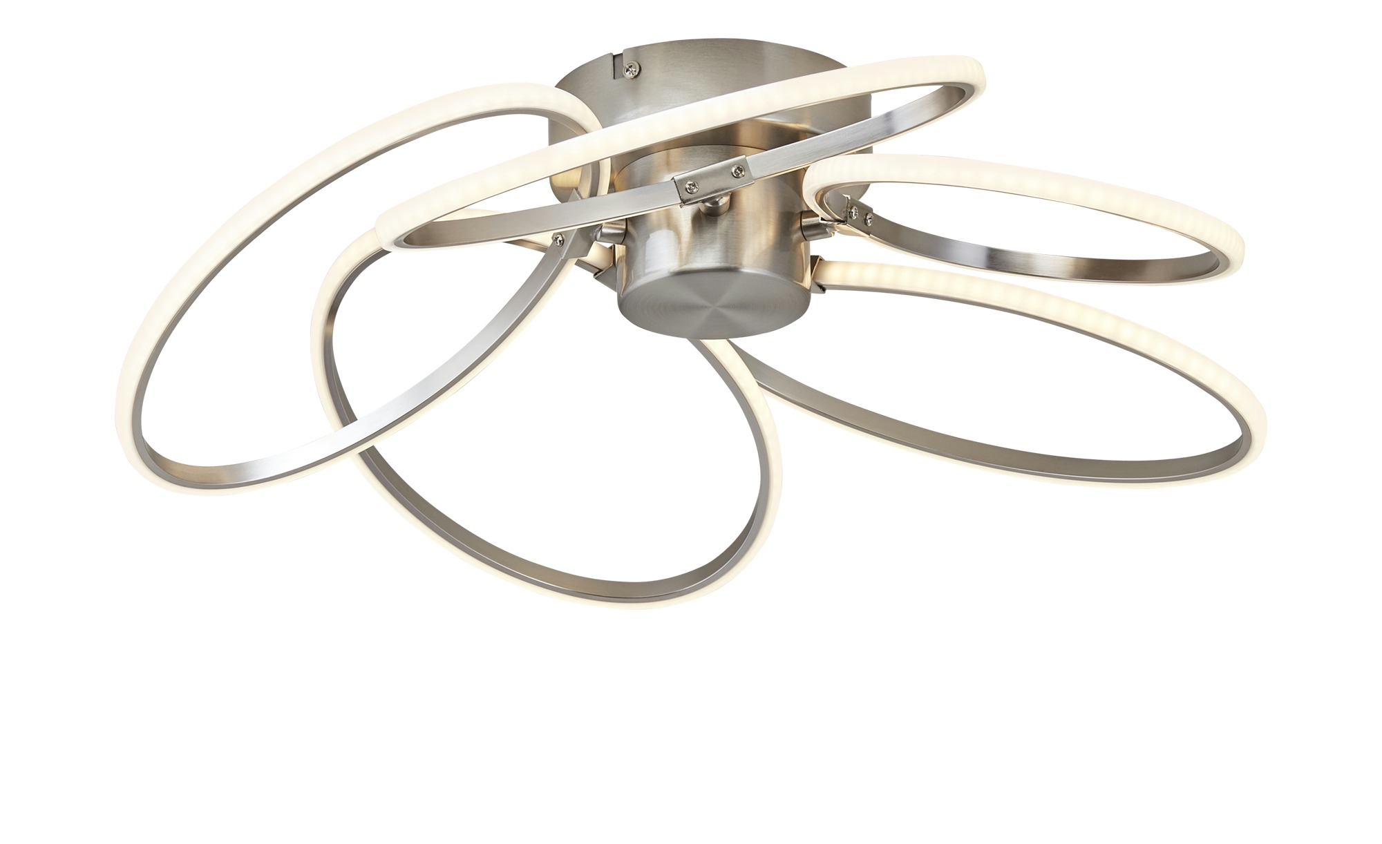 Paul Sommerkamp Leuchten LED-Deckenleuchte, 5-flammig nickel matt ¦ silber ¦ Maße (cm): B: 48 H: 14 Ø: [48.0] Lampen & Leuchten > Innenleuchten > Deckenleuchten - Höffner