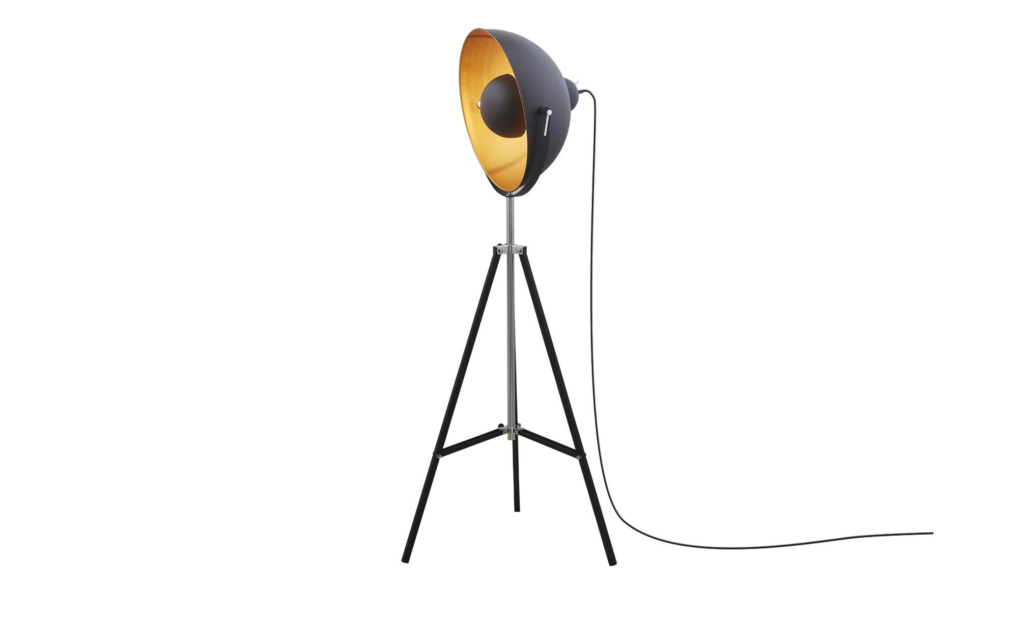 HOME STORY Dreibein - Stehleuchte ¦ schwarz ¦ Maße (cm): H: 165 Ø: [50.0] Lampen & Leuchten > Innenleuchten > Stehlampen - Höffner
