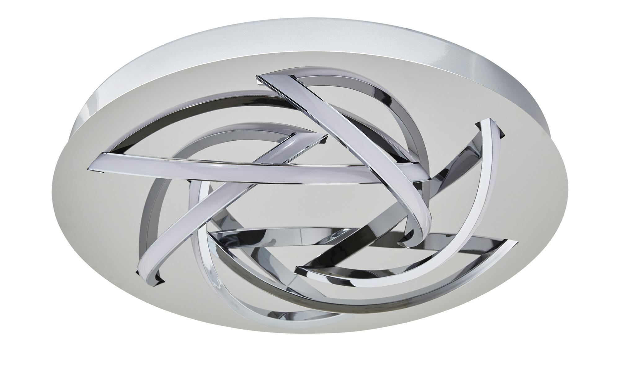 KHG LED-Deckenleuchte, 6-flammig chrom ¦ silber ¦ Maße (cm): H: 7,5 Ø: 40 Lampen & Leuchten > Innenleuchten > Deckenleuchten - Höffner