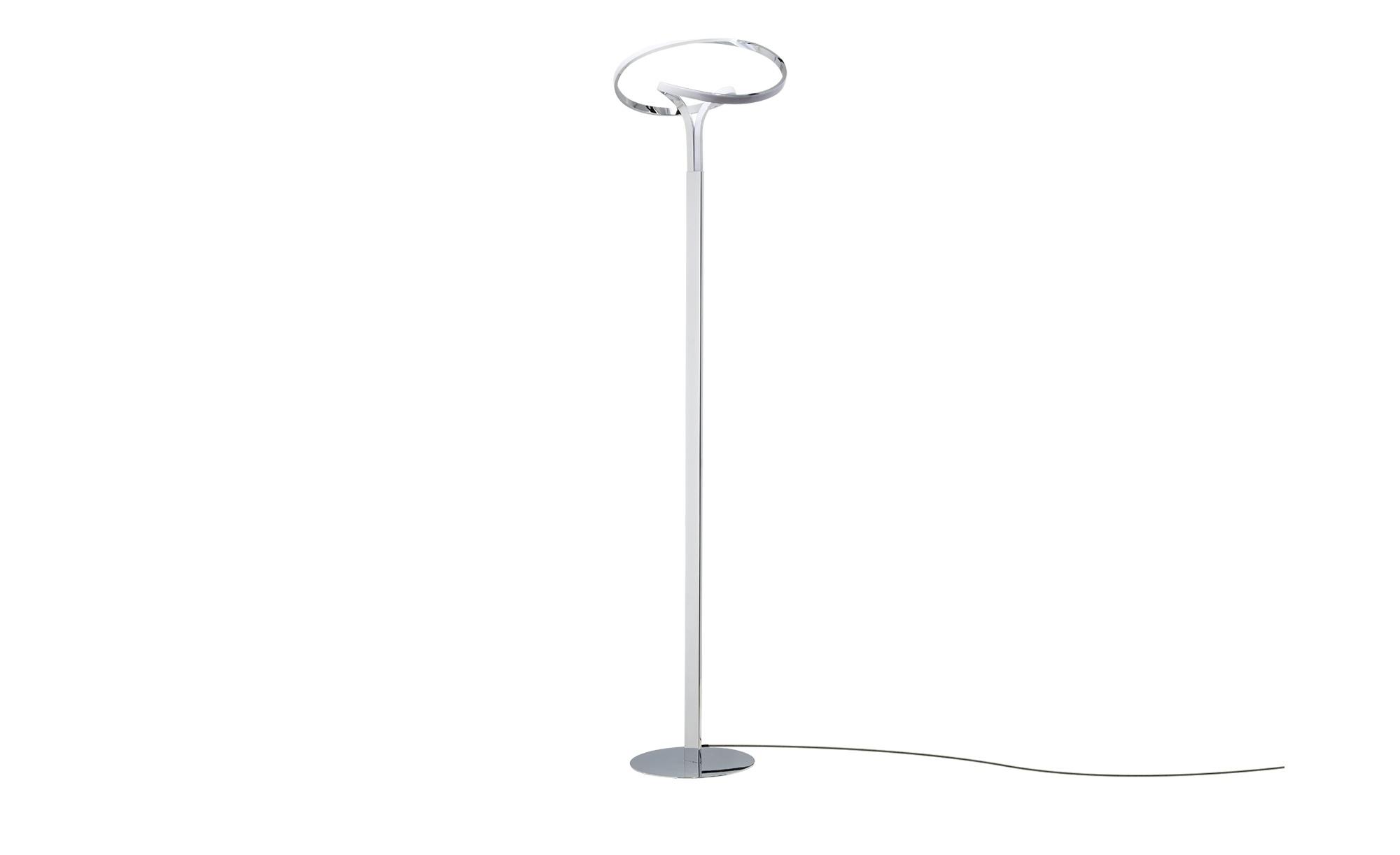 KHG LED-Stehleuchte geschwungen ¦ silber ¦ Maße (cm): B: 38 H: 152 Lampen & Leuchten > Innenleuchten > Stehlampen - Höffner