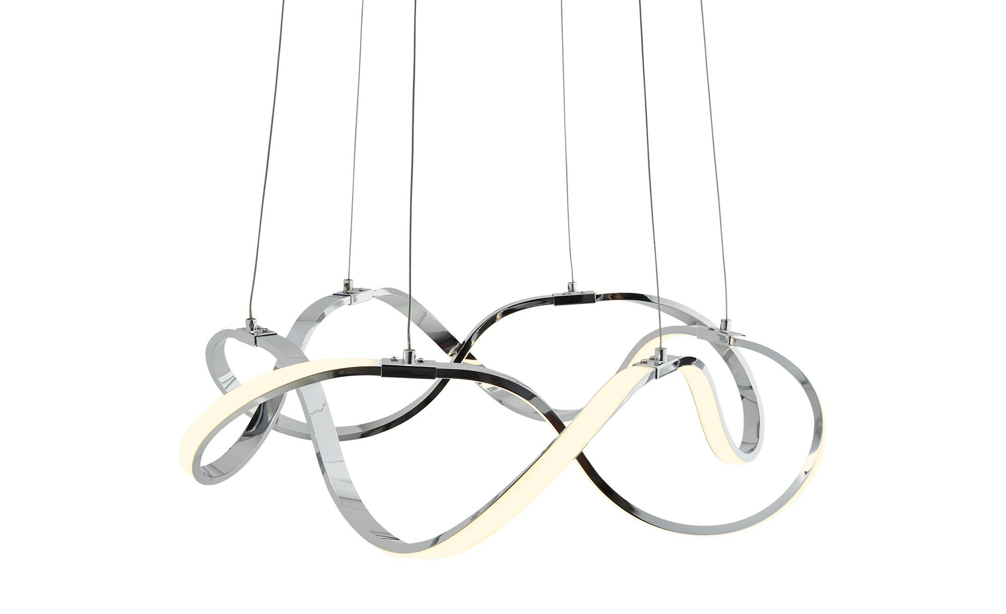KHG Pendelleuchte, geschwungen ¦ silber ¦ Maße (cm): H: 120 Ø: [55.0] Lampen & Leuchten > LED-Leuchten > LED-Pendelleuchten - Höffner