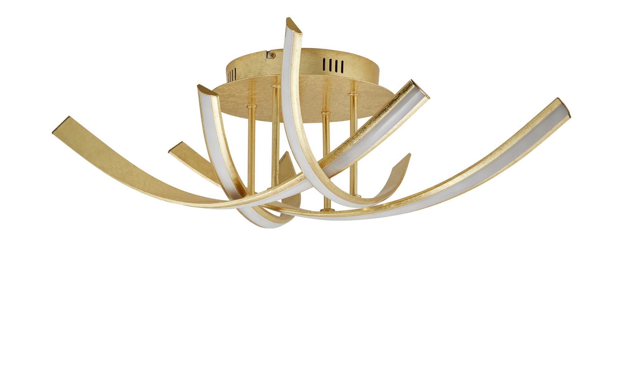 Paul Neuhaus LED-Deckenleuchten, 4-flammig, goldfarben ¦ gold ¦ Maße (cm): B: 73 H: 20 Lampen & Leuchten > Innenleuchten > Deckenleuchten - Höffner