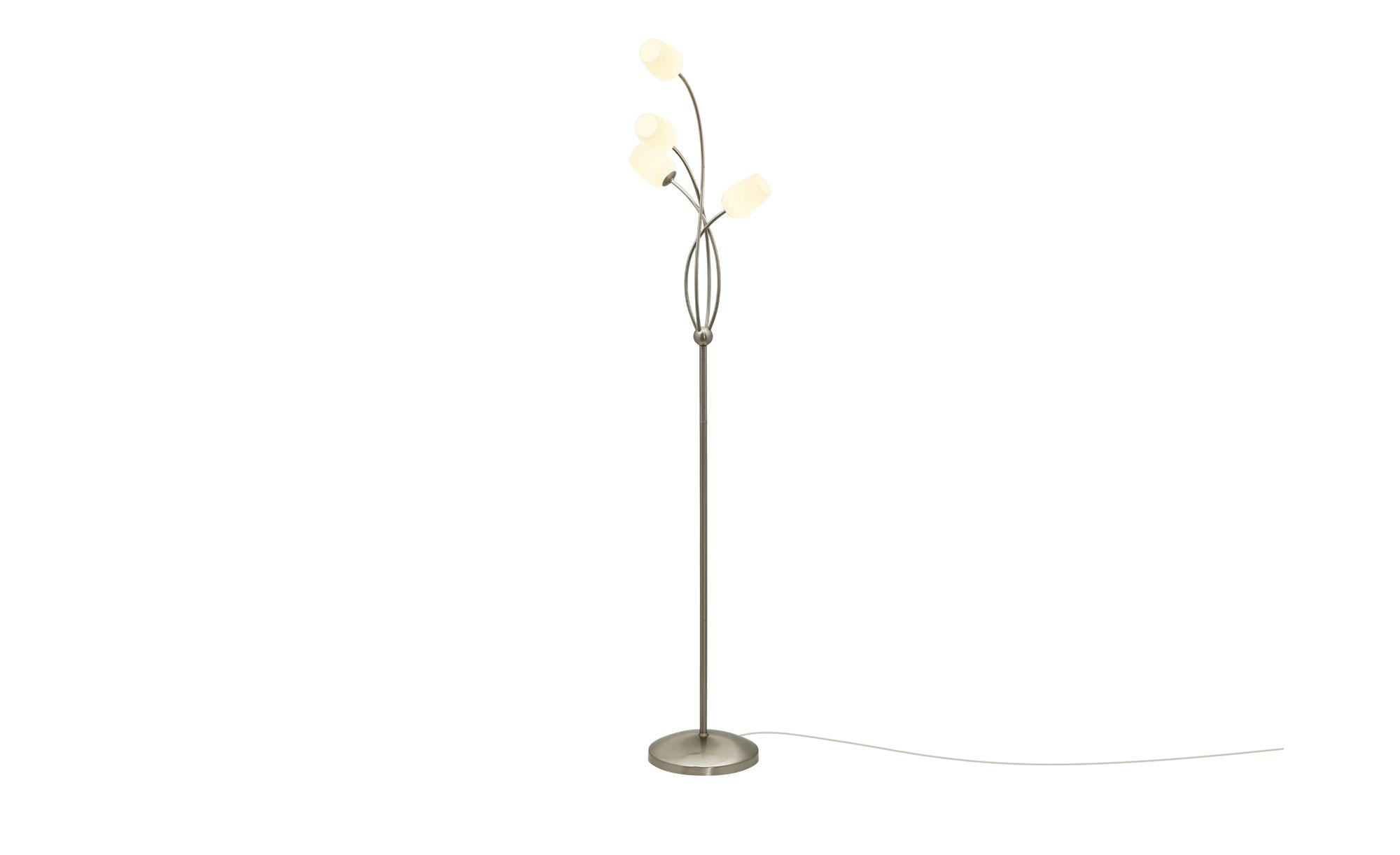 Paul Neuhaus LED-Stehleuchte, Nickel matt, 4-flammig ¦ silber ¦ Maße (cm): B: 26 H: 150 Lampen & Leuchten > Innenleuchten > Stehlampen - Höffner